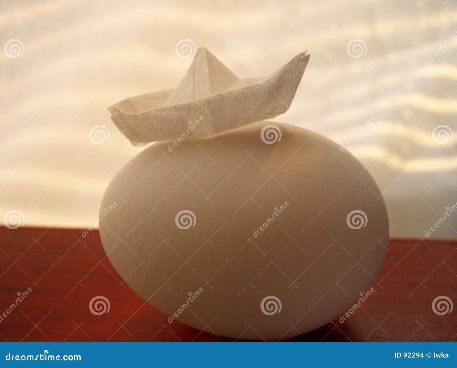 Jajko papieru statku