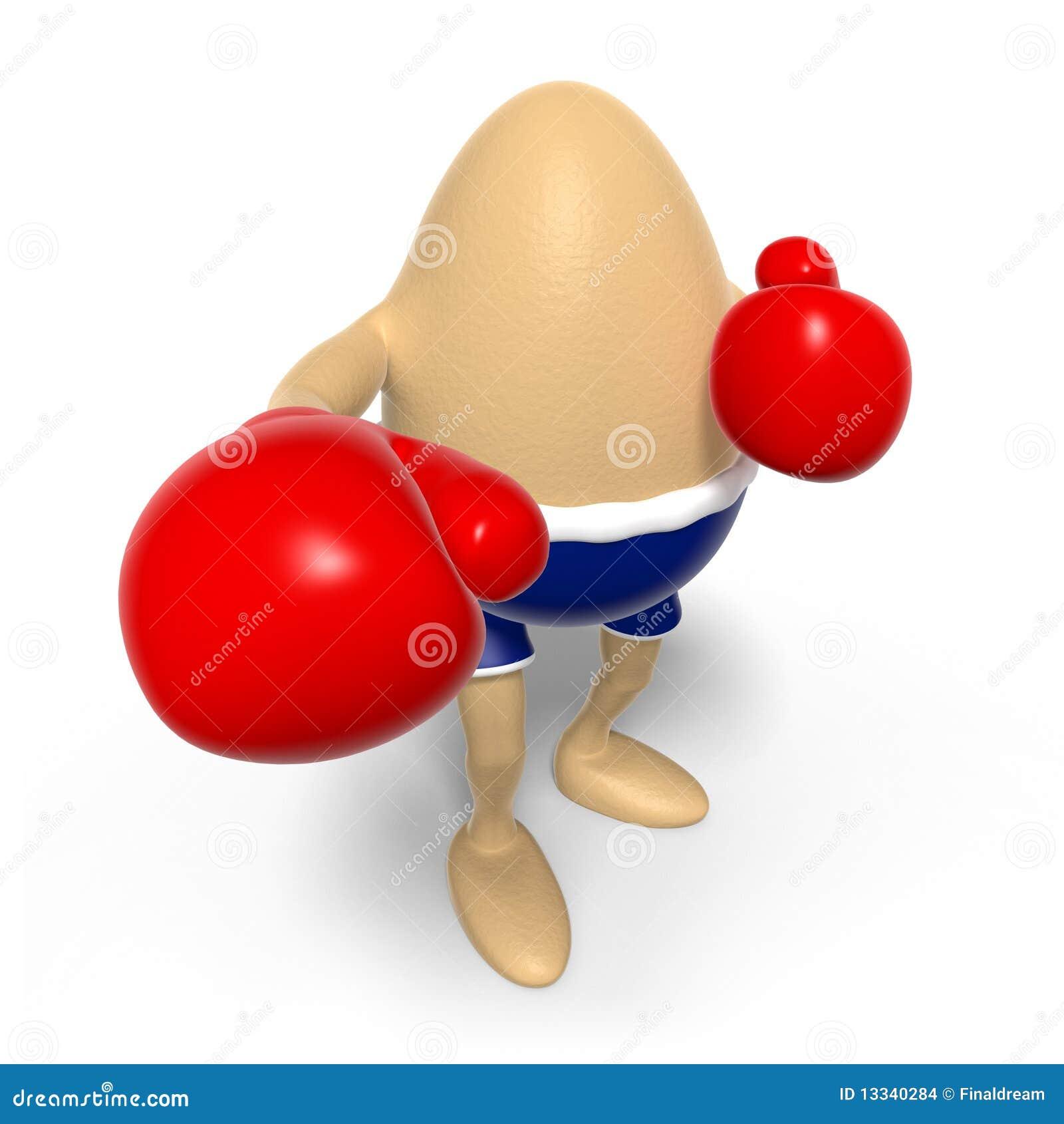 Jajko uderzać pięścią widza