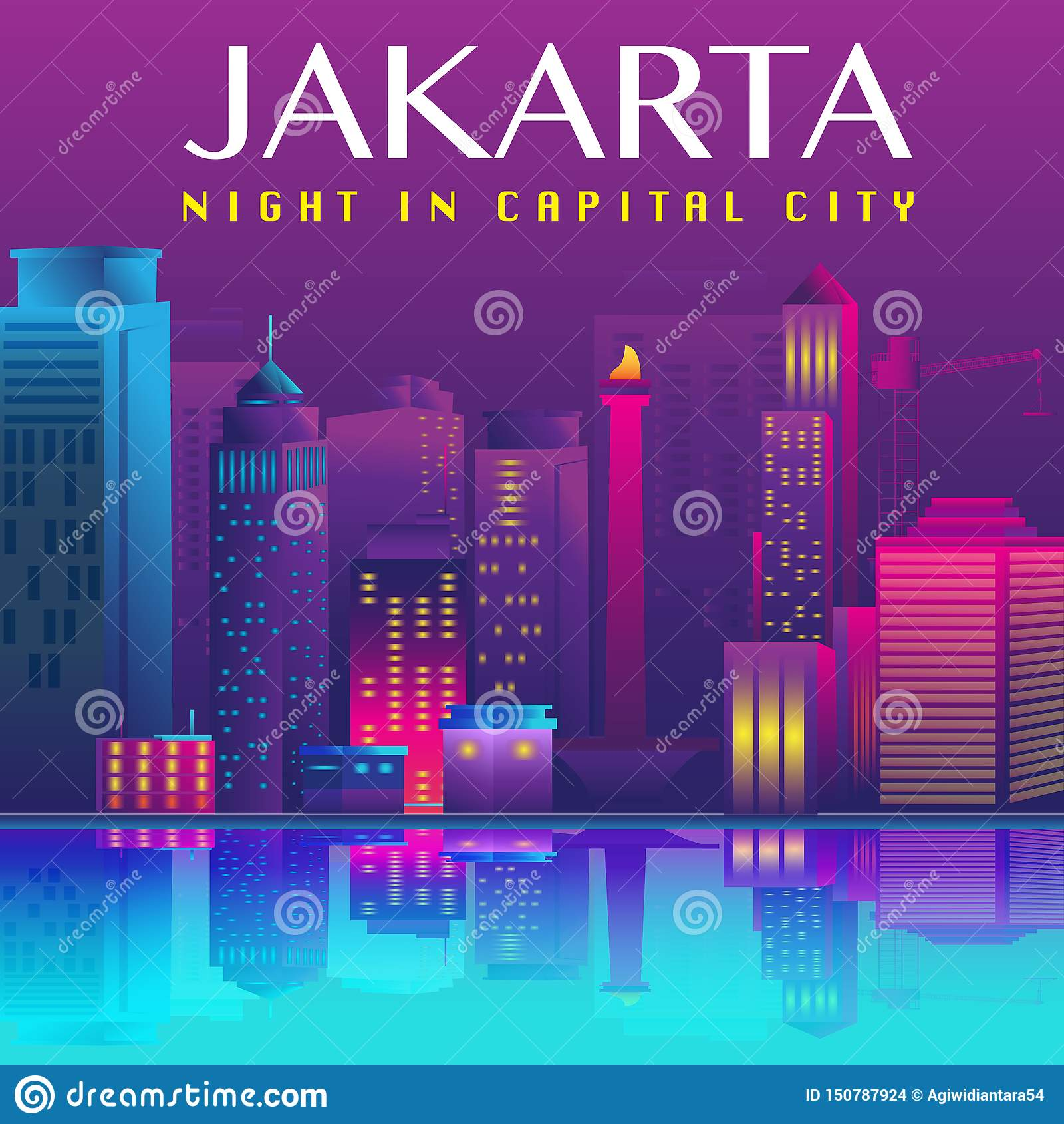 Jakarta Capital City Vector Design