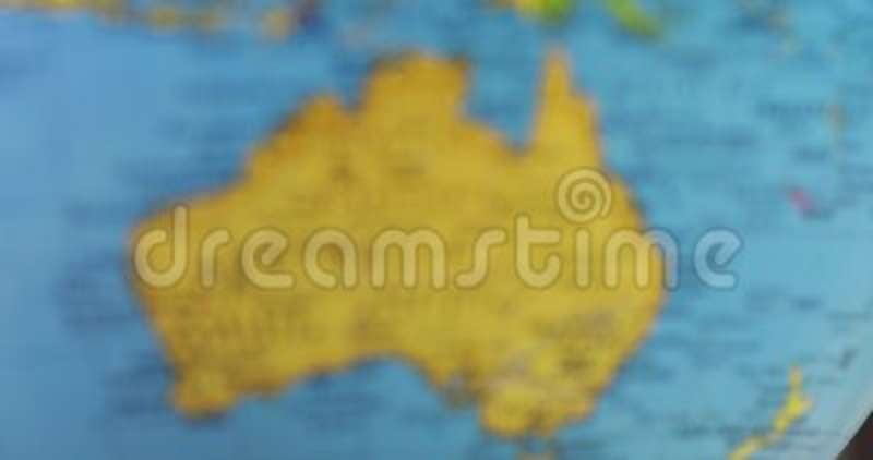 Globe With Map Of Australia Continent Stock Footage - Video of ...