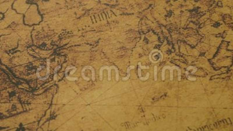 Map Of Asia Jakarta.Closeup Of Retro World Map Stock Footage Video Of Asia 115615728