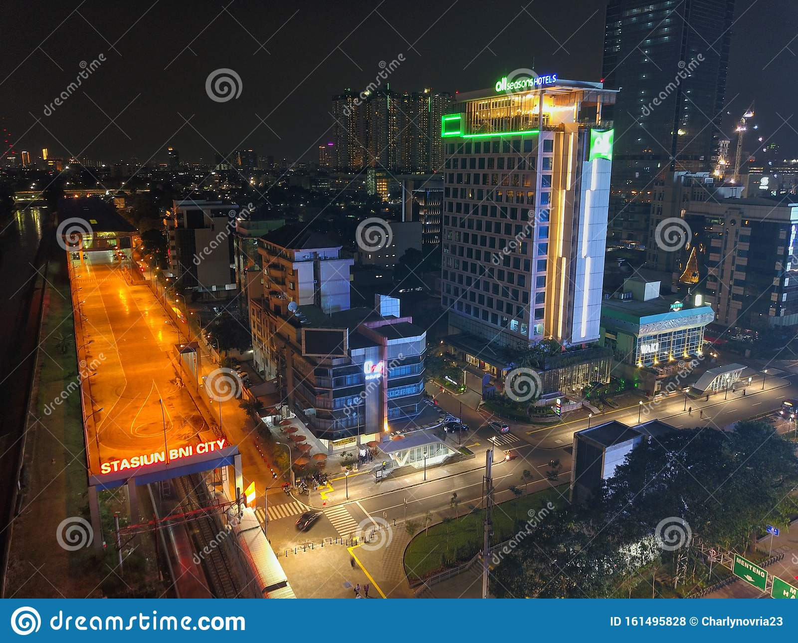 Jakarta Indonesia July 15 2019 Aerial View Of Bni City Station With Located In South Jakarta Central Business Distri Editorial Stock Photo Image Of Business City 161495828