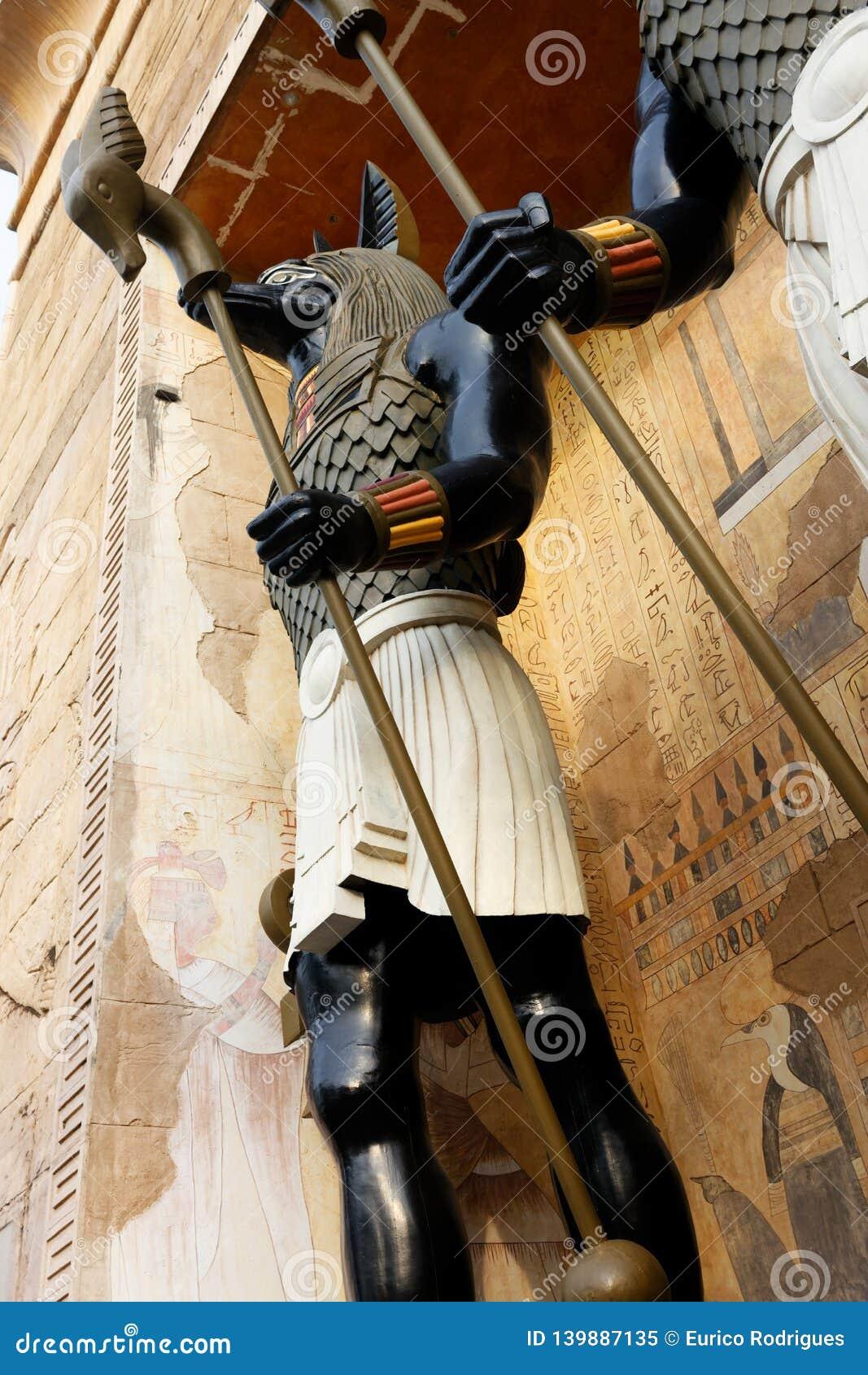 Jakhals onder ogen gezien God, Anubis