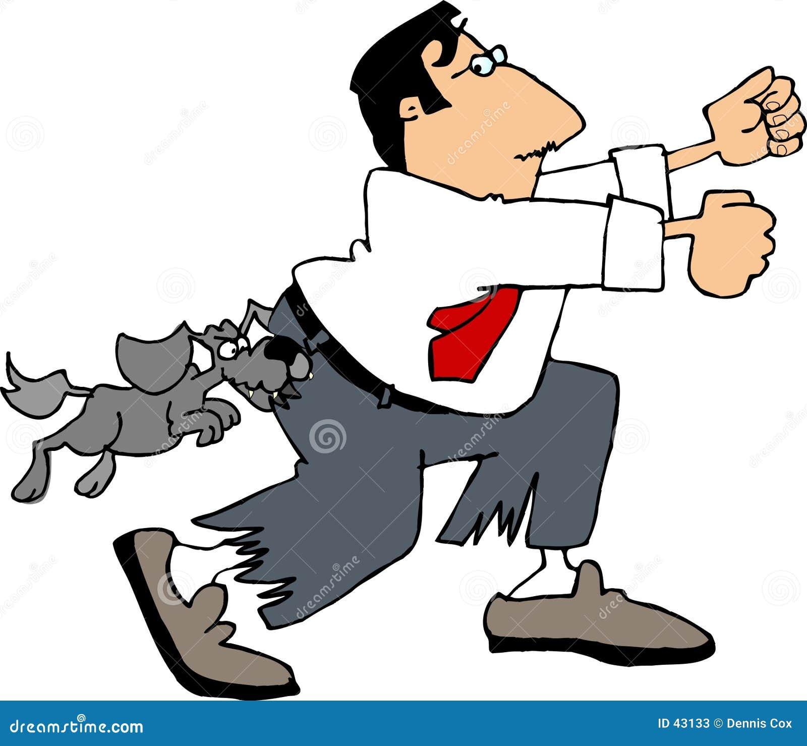 Download Jakiś pies ilustracji. Ilustracja złożonej z mężczyzna, zabawa - 43133
