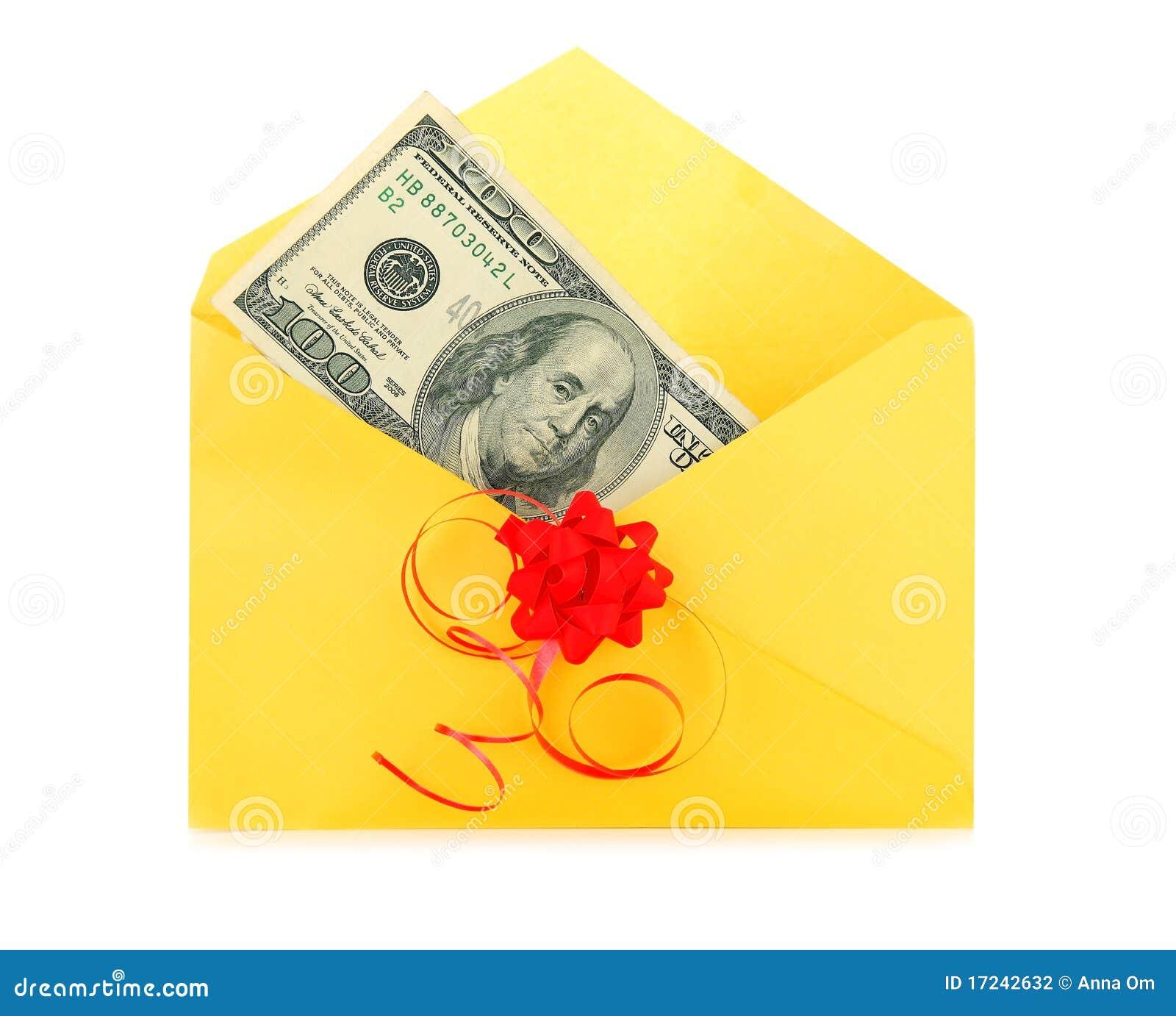 Jako prezenta pieniądze