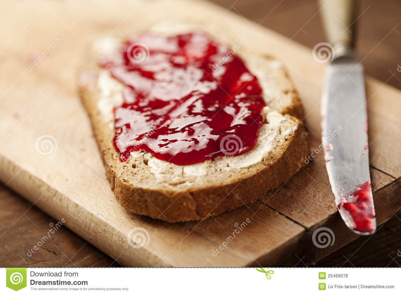 Jam on bread