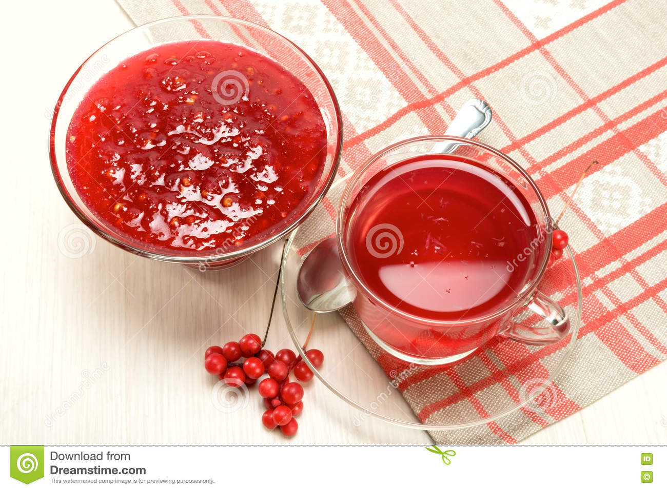 Jam And Drink From Schisandra Chinensis Stock Photo - Image