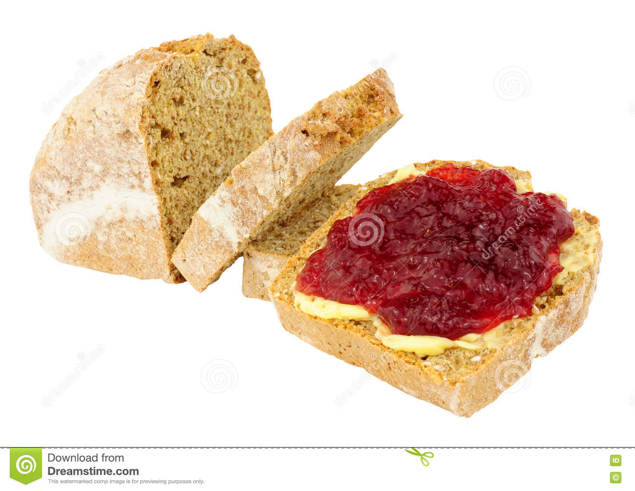 Jam en Beboterd Brood