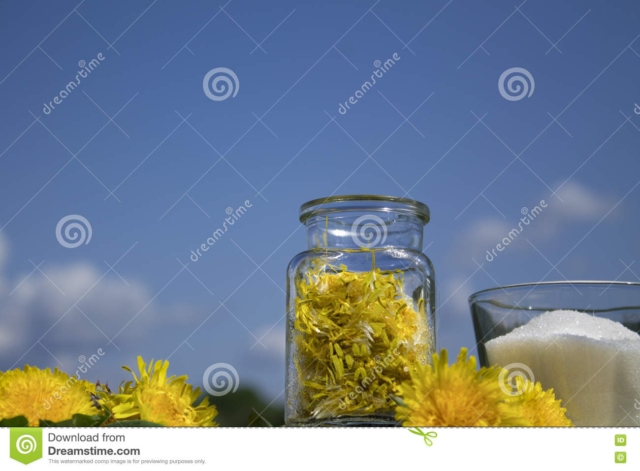 Jam from the flowers of dandelions