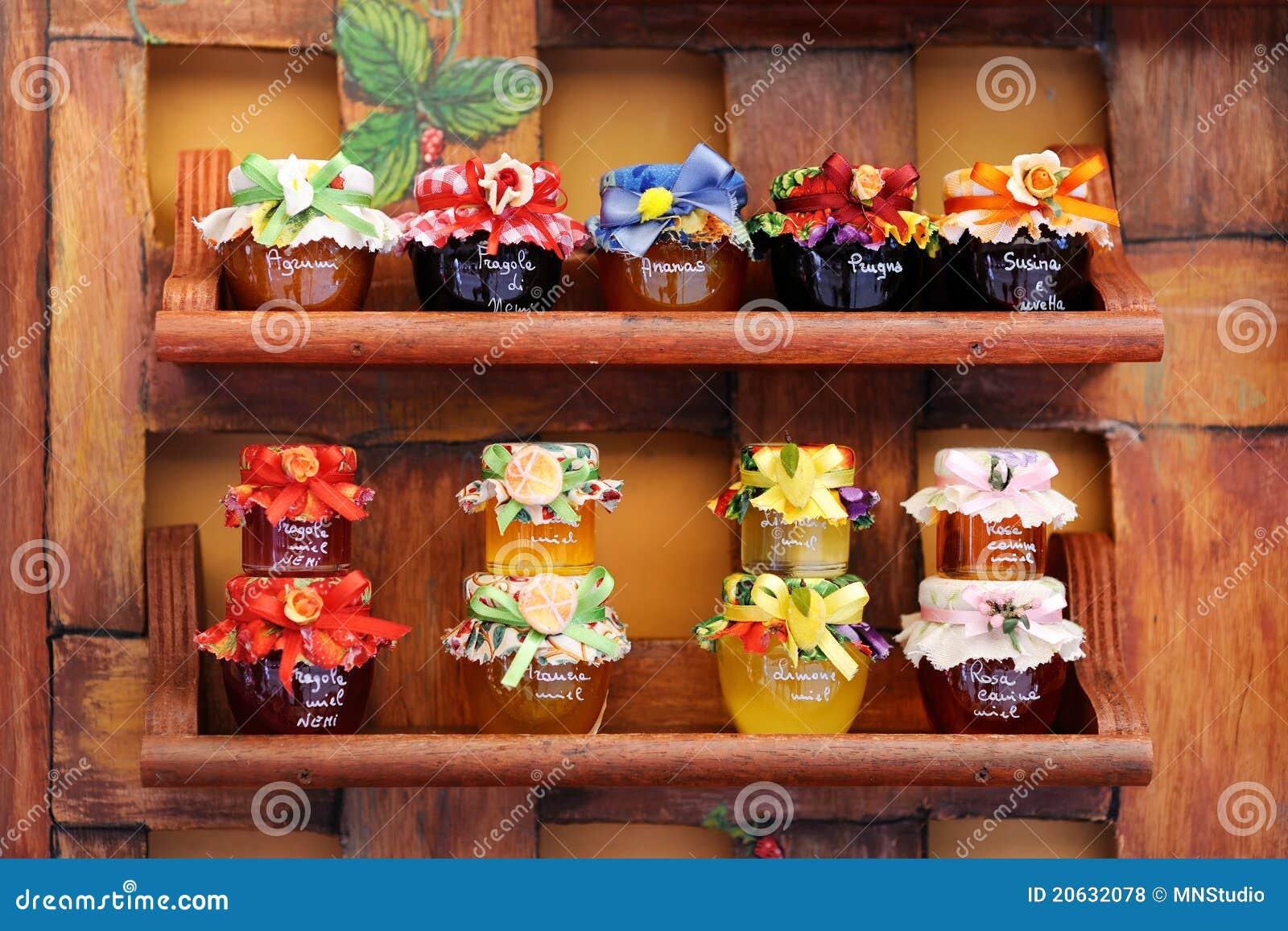 jam jars arranged for sale royalty free stock photos. Black Bedroom Furniture Sets. Home Design Ideas