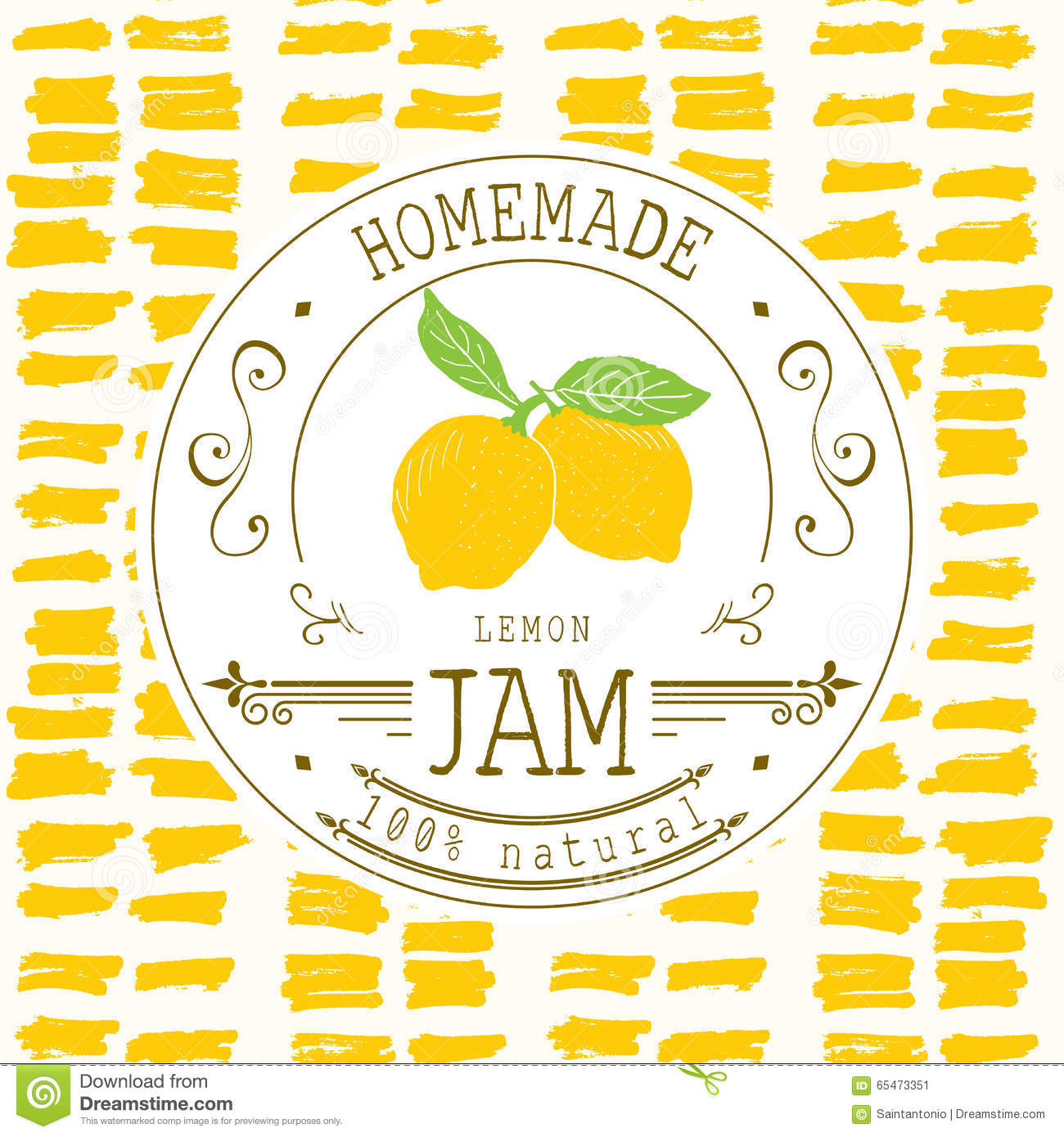 Jam Label Design Template For Lemon Dessert Product With Hand – Product Label Template