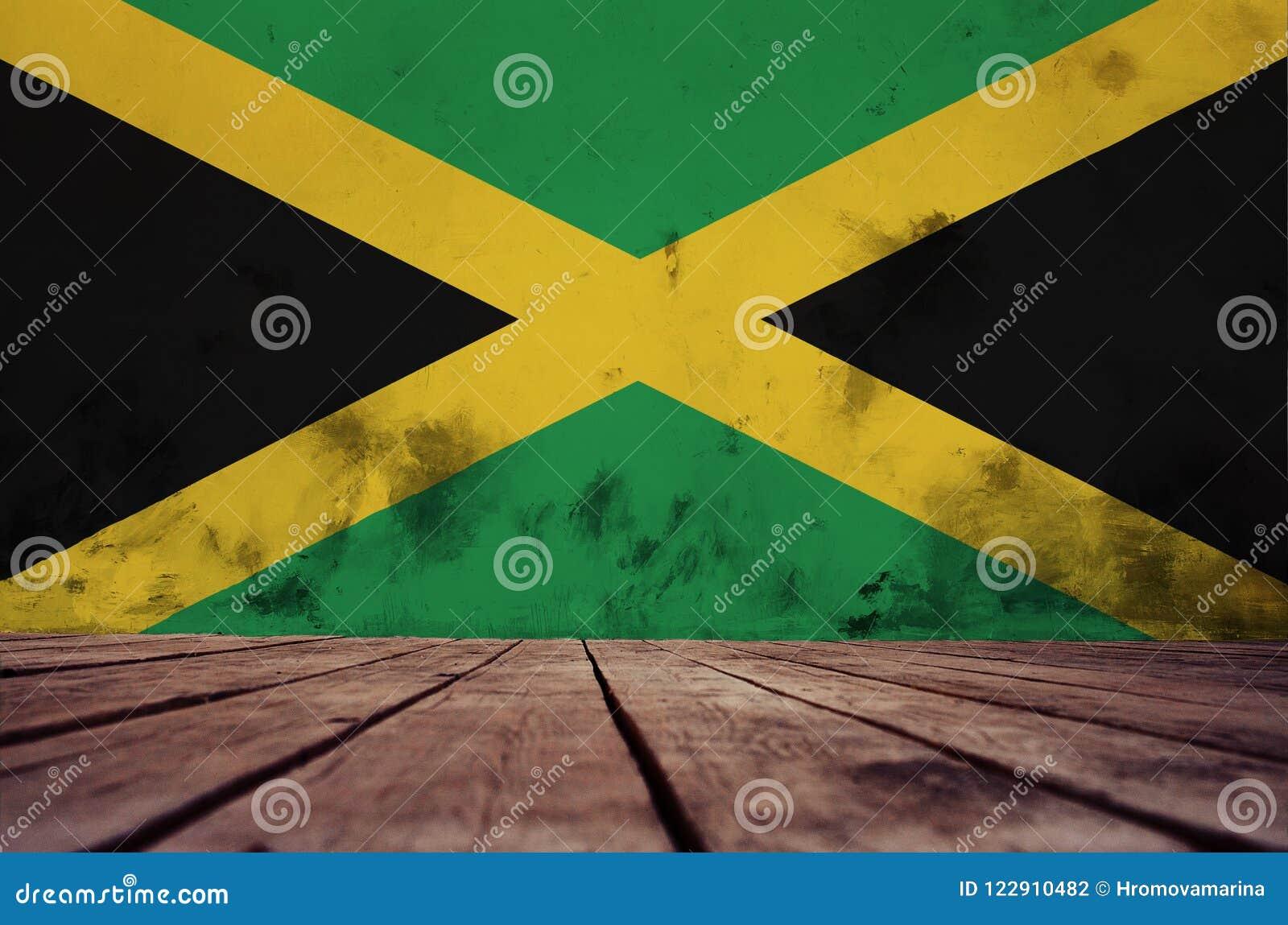 Jamaïca-vlag op de muur