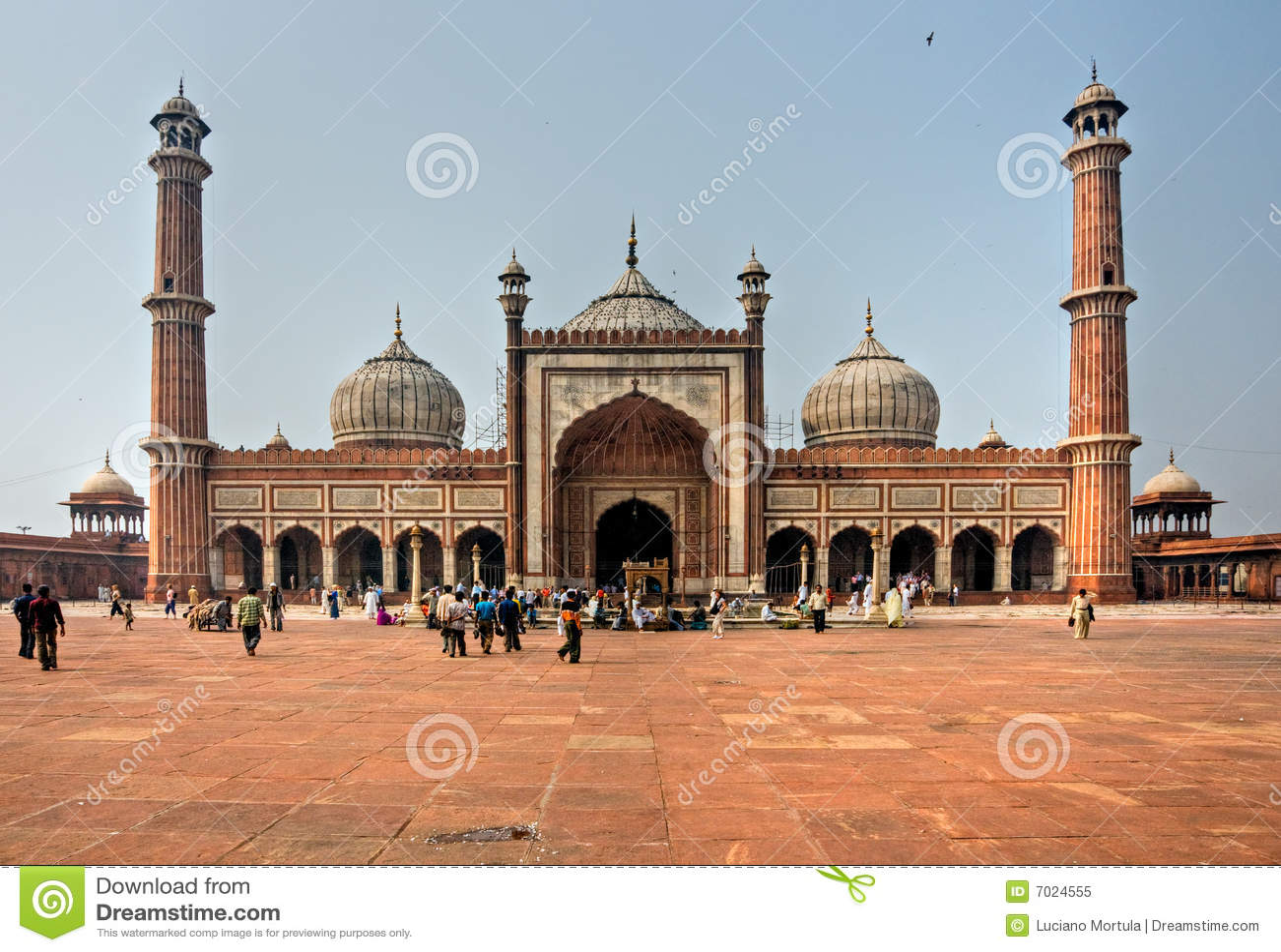 Jama Masjid, Delhi vieja, la India.