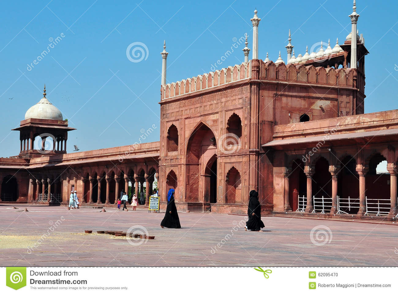 Jama masjid new delhi india muslim women editorial for Architecture inde