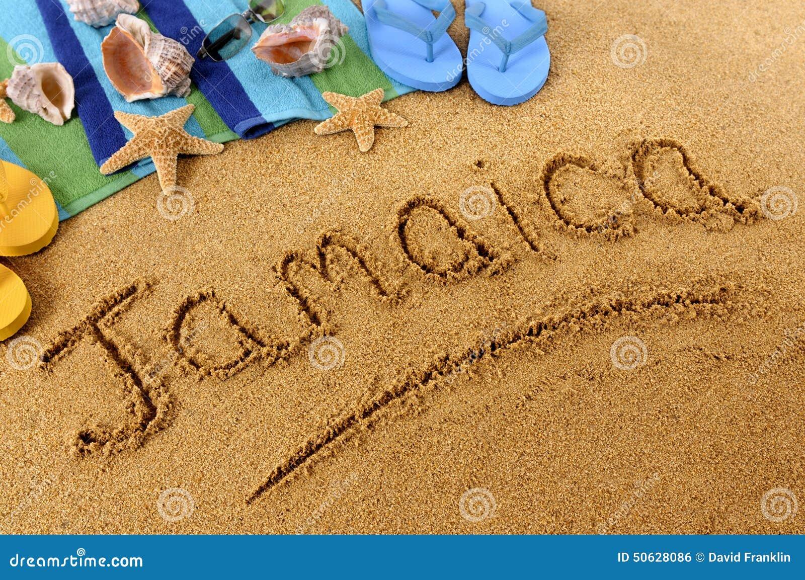 jamaica beach sand word writing stock photo image 50628086 seashell clipart freeware black and white seashell clipart black and white