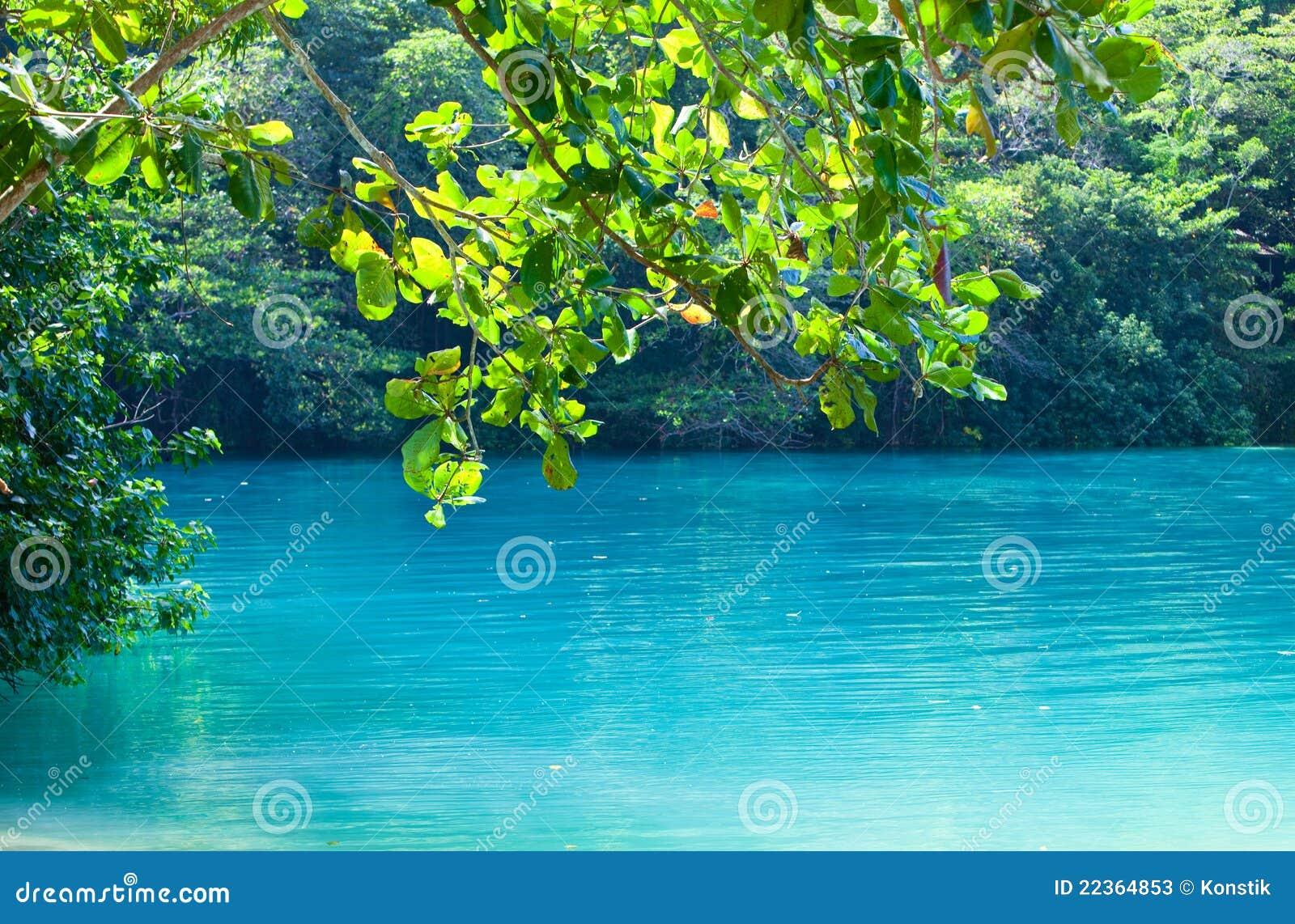 Jamaica A Blue Lagoon Stock Image Image Of Romantic