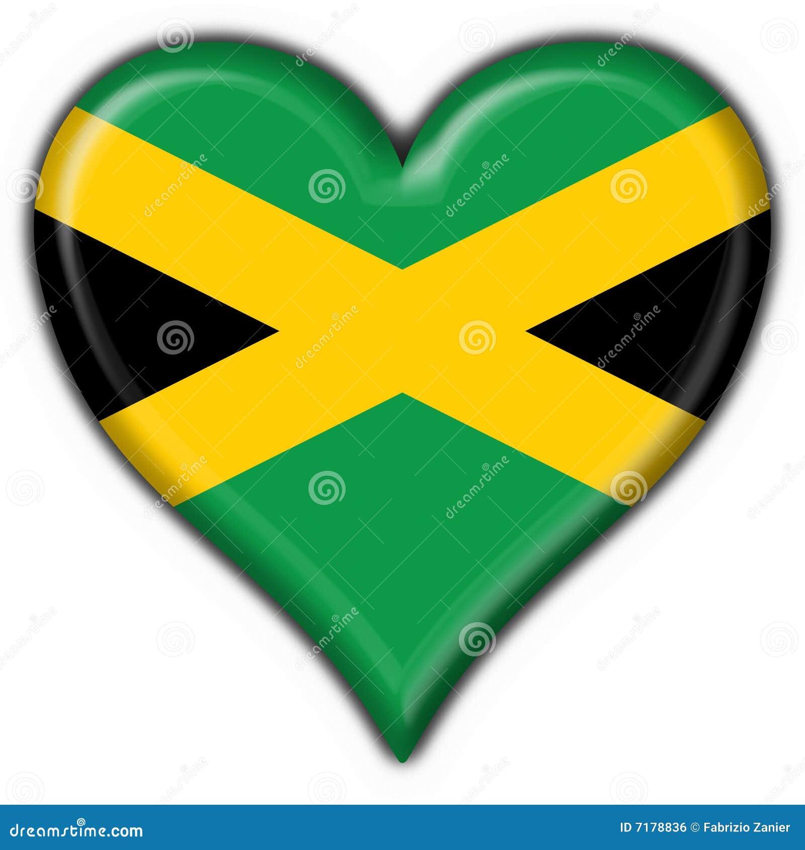 Jamaica button flag heart shape