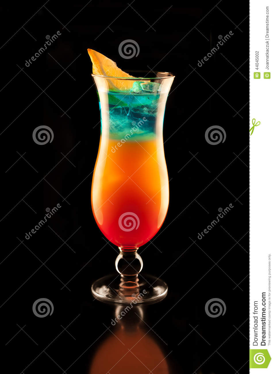 Jamaica drink stock photo image 44045002 for Orange and blue cocktails