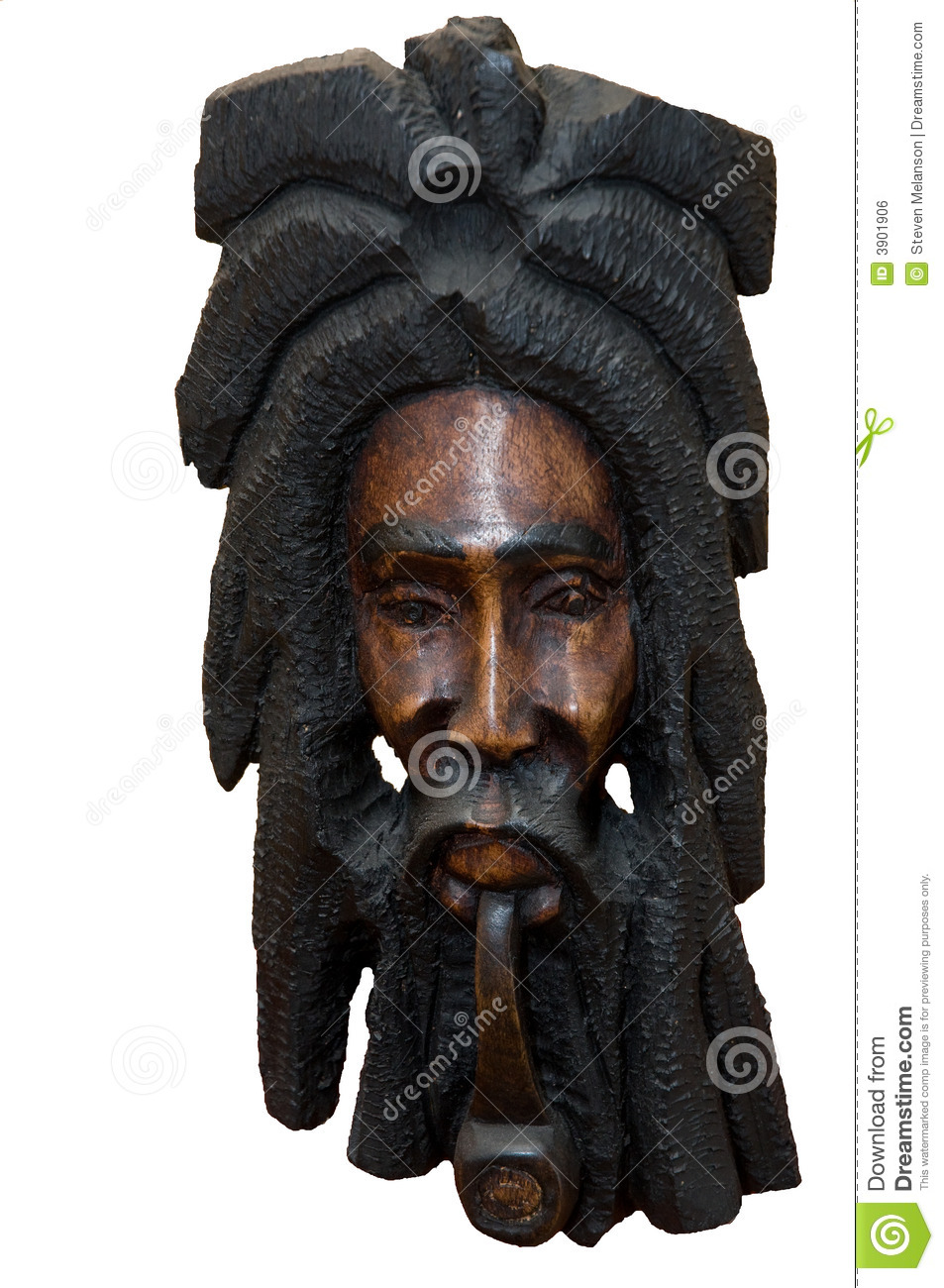 Jamaican Carving Royalty Free Stock Image - Image: 3901906