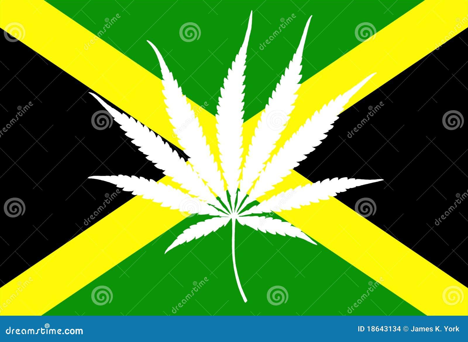Jamaican Flag Marijuana Leaf Stock Images - Image: 18643134