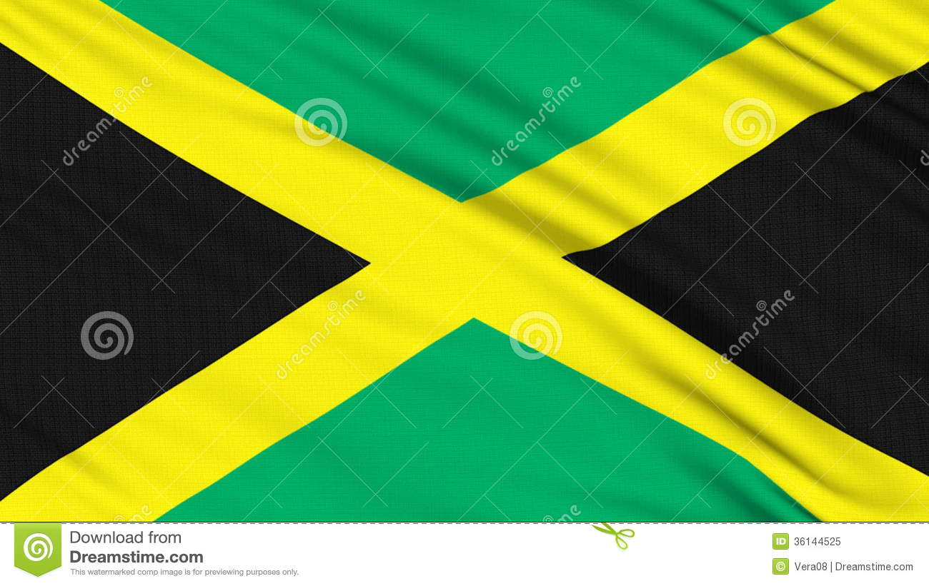 Jamaican Flag Coloring Page
