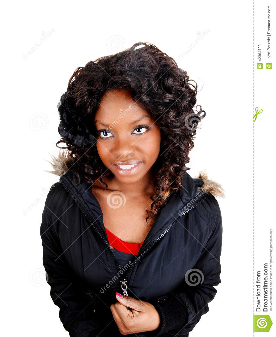 Jamaican Girl In Jacket Stock Photo Image Of Lady, Cute -8665