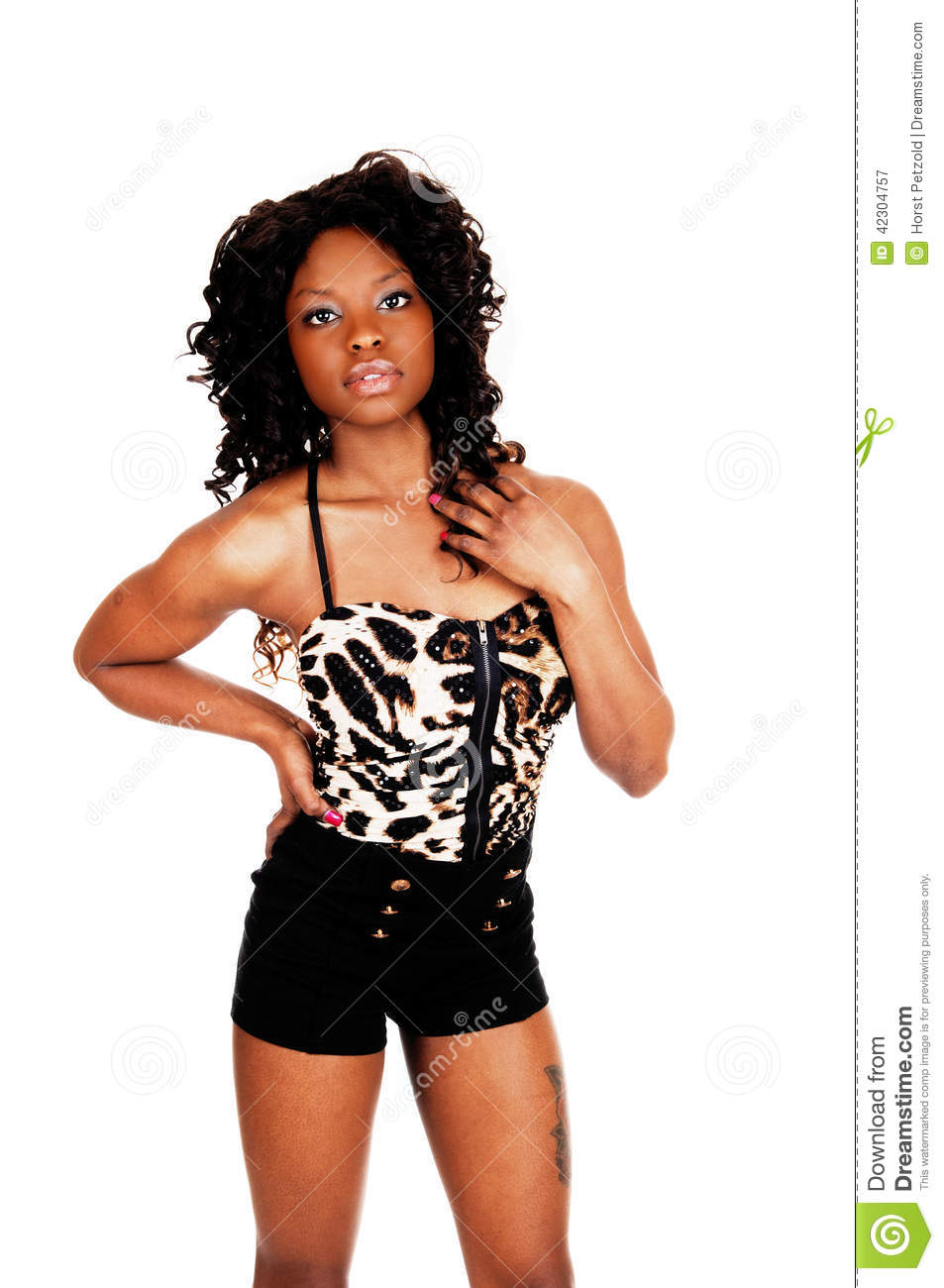 Jamaican Girl In Shorts Stock Image Image Of Beautiful -4292