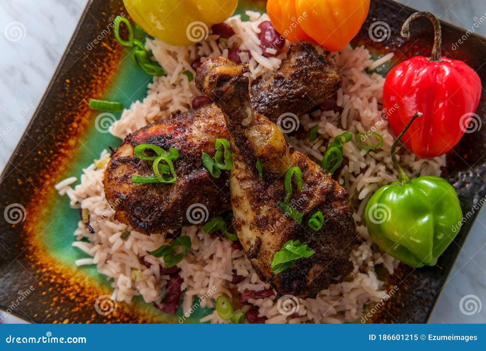 Jamaican Jerk Chicken Legs Stock Image Image Of Kitchen 186601215