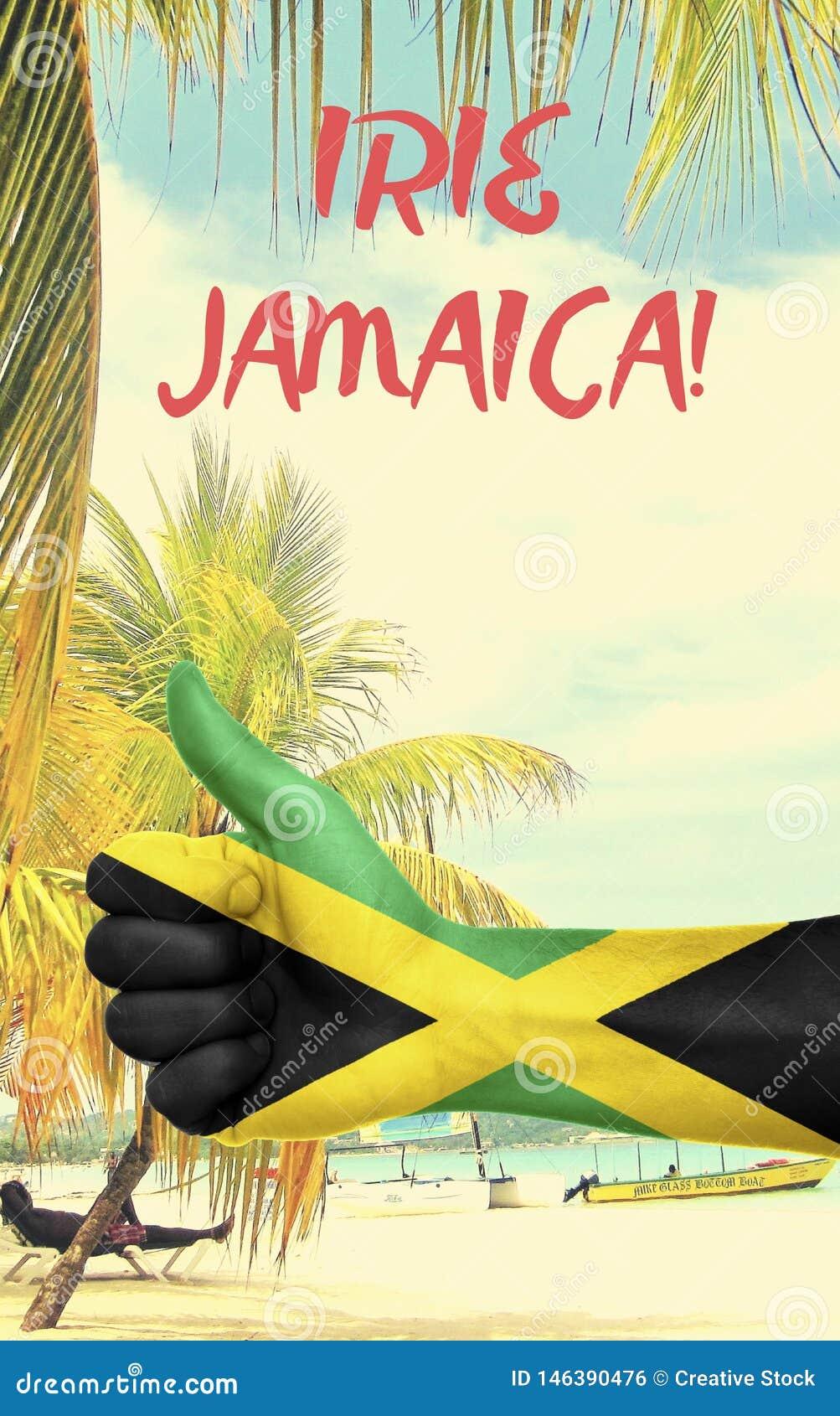 Jamaika-Grafik mit Staatsflagge