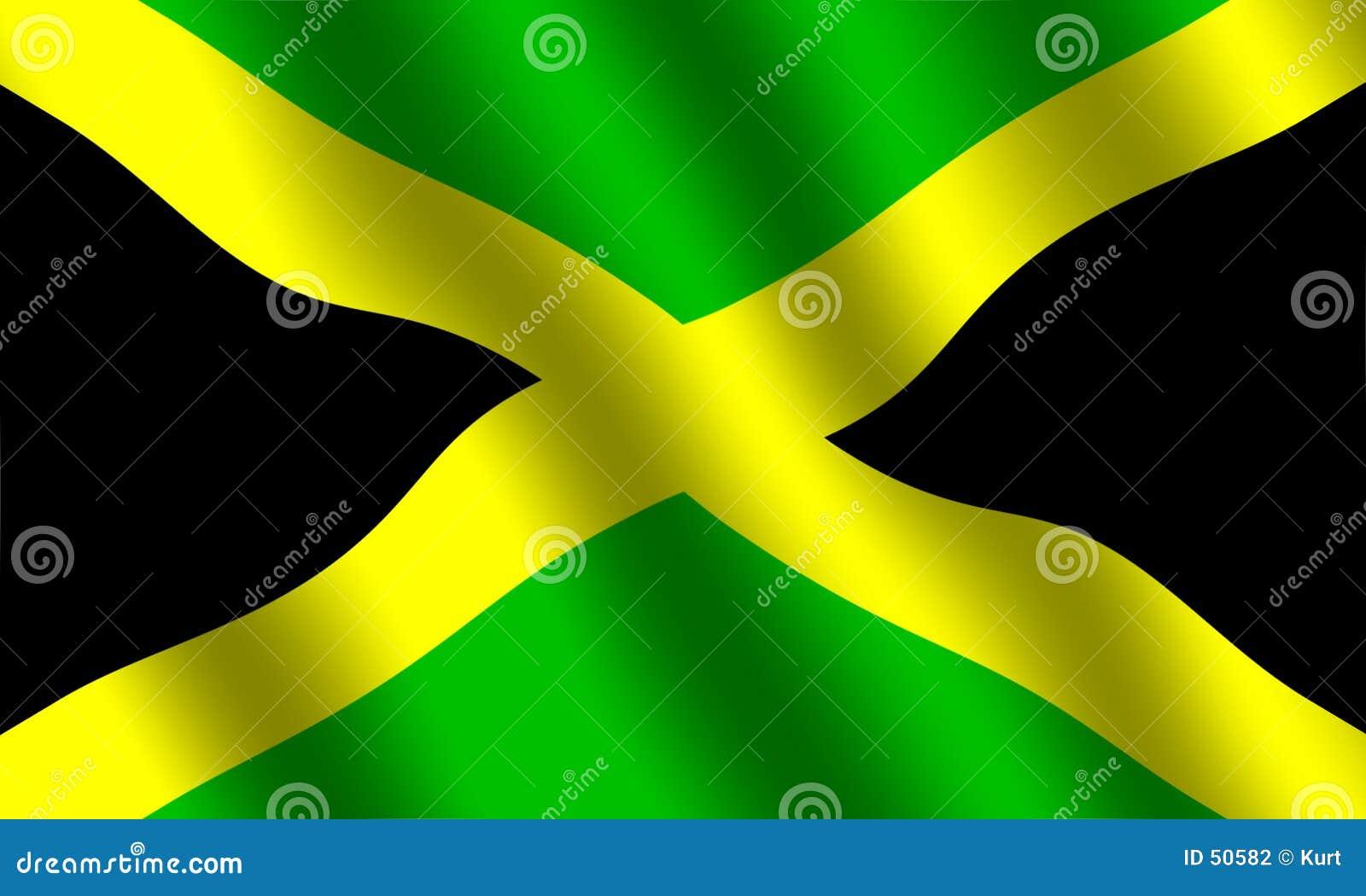 Jamaikanische Markierungsfahne