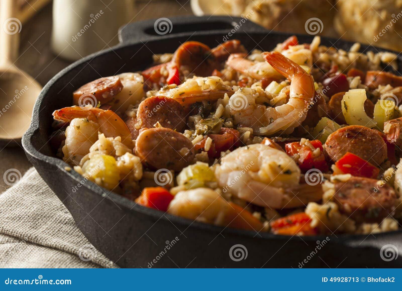 Jambalaya caseiro picante de Cajun