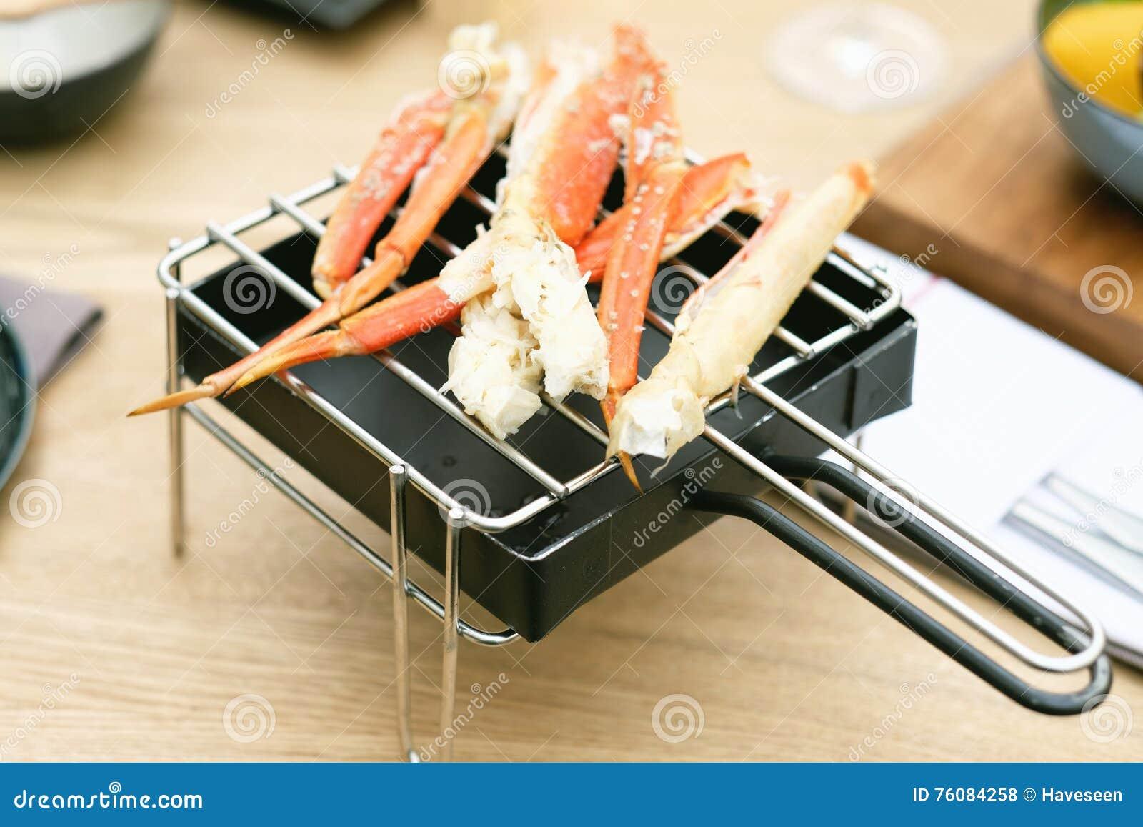 Jambes de crabe dans le restaurant