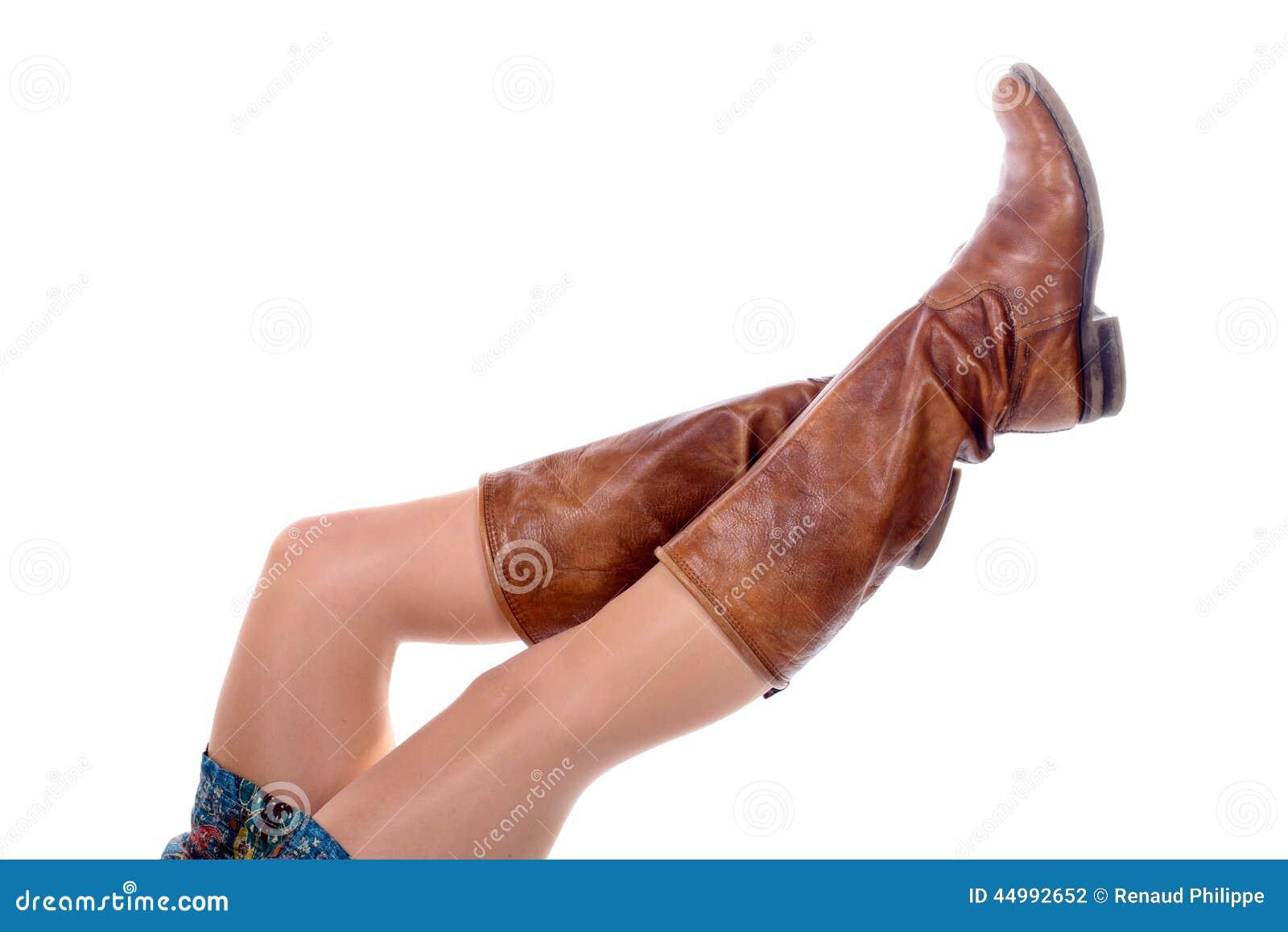jambes fminines avec les collants colors avec des bottes - Collants Colors