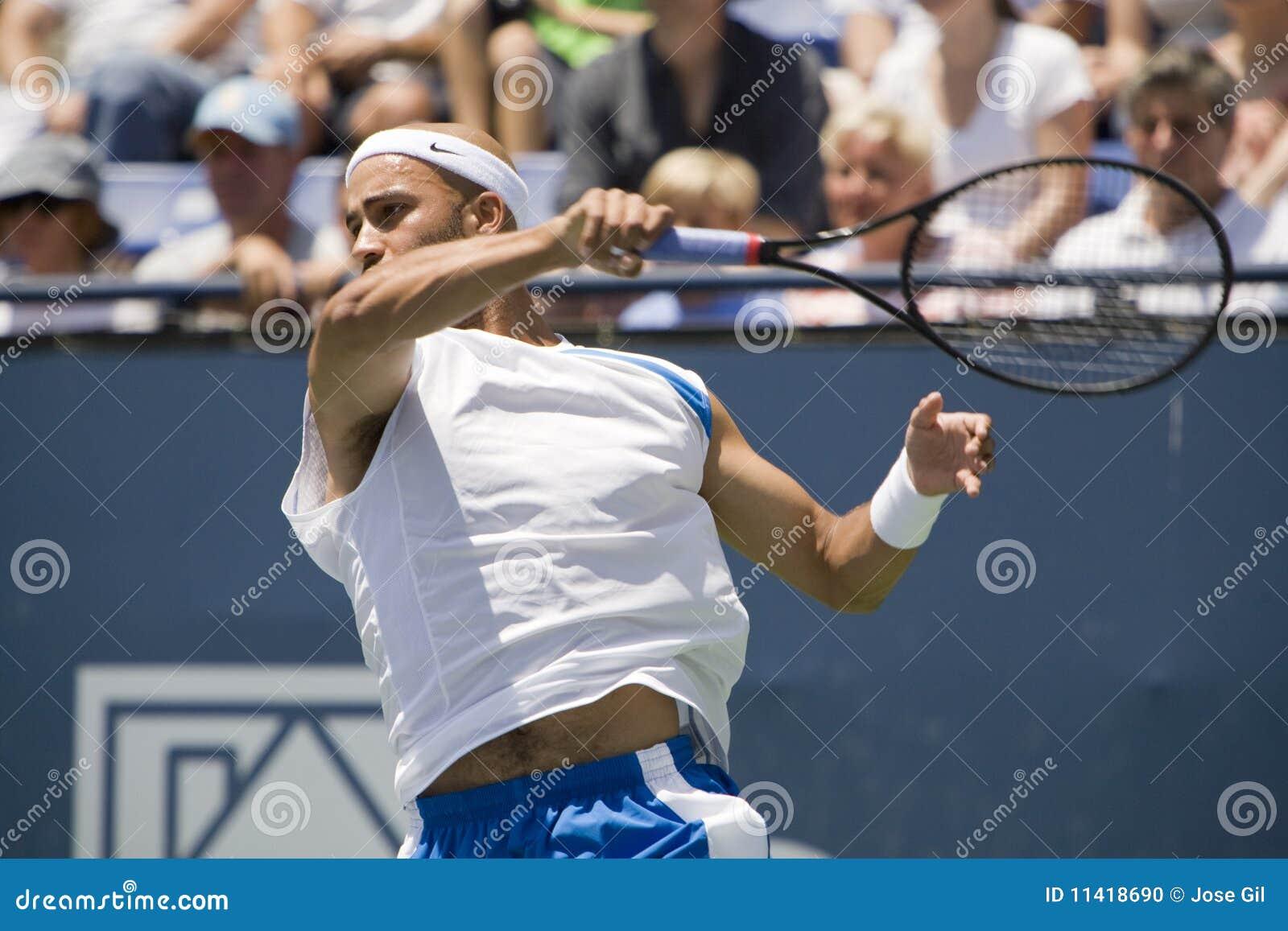 James Blake en el torneo abierto del tenis de Los Ángeles