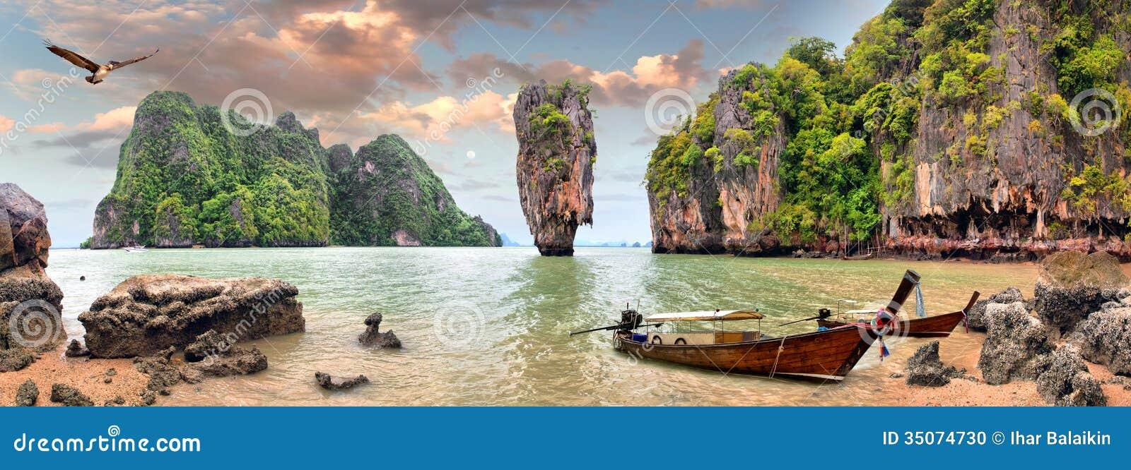 Download James Bond Island stock photo. Image of remote, finger - 35074730