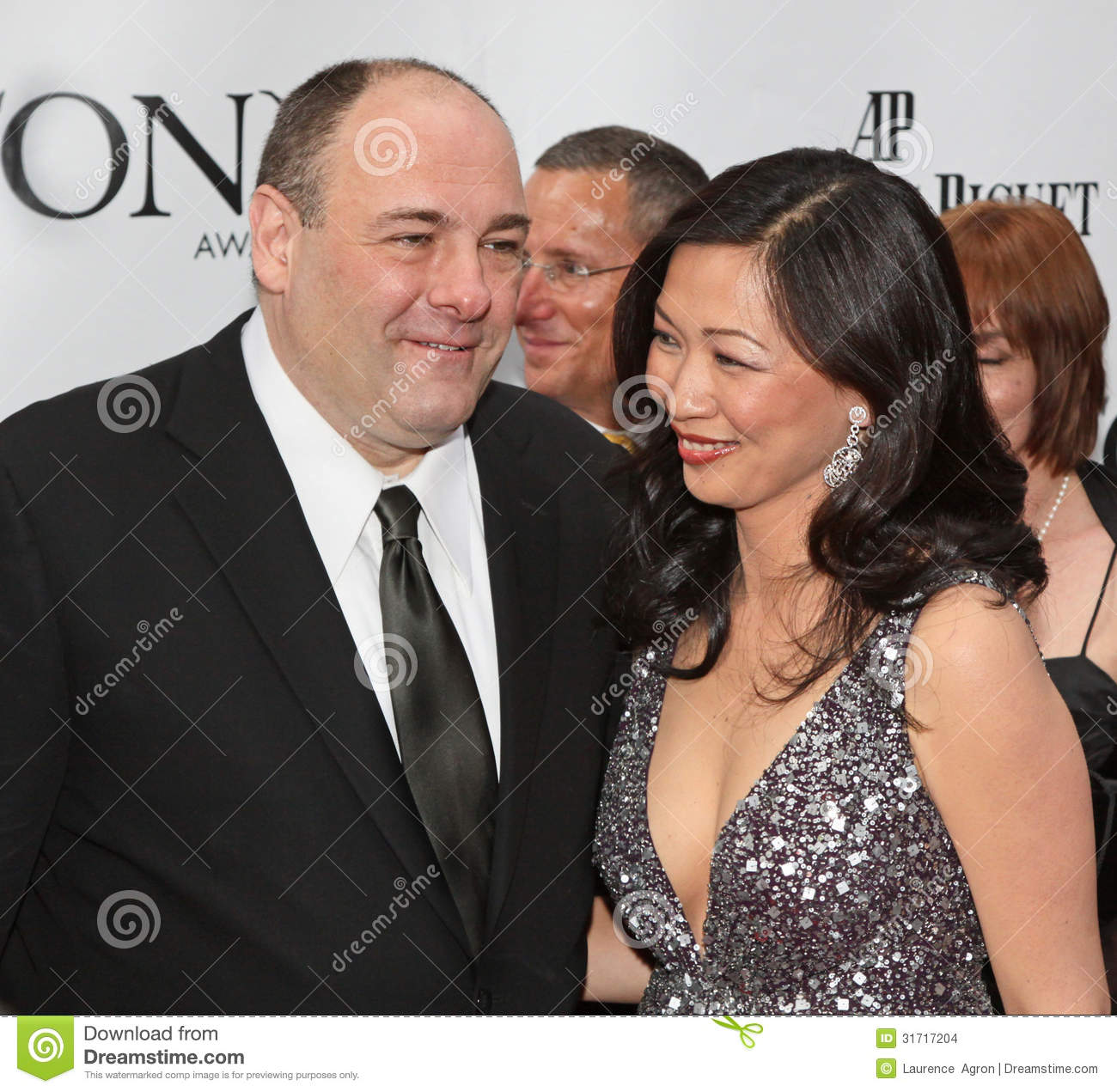 James Gandolfini And Deborah Lin Editorial Stock Image