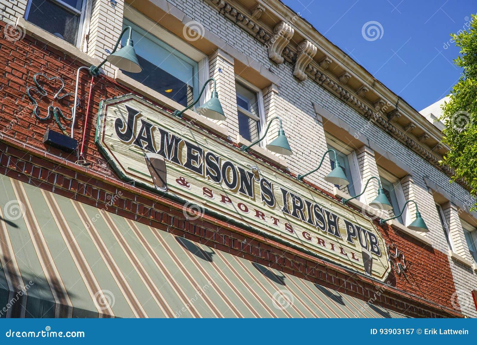 Jameson Irish Pub in Los Angeles in Hollywood Blvd - LOS ANGELES - CALIFORNIË - APRIL 20, 2017