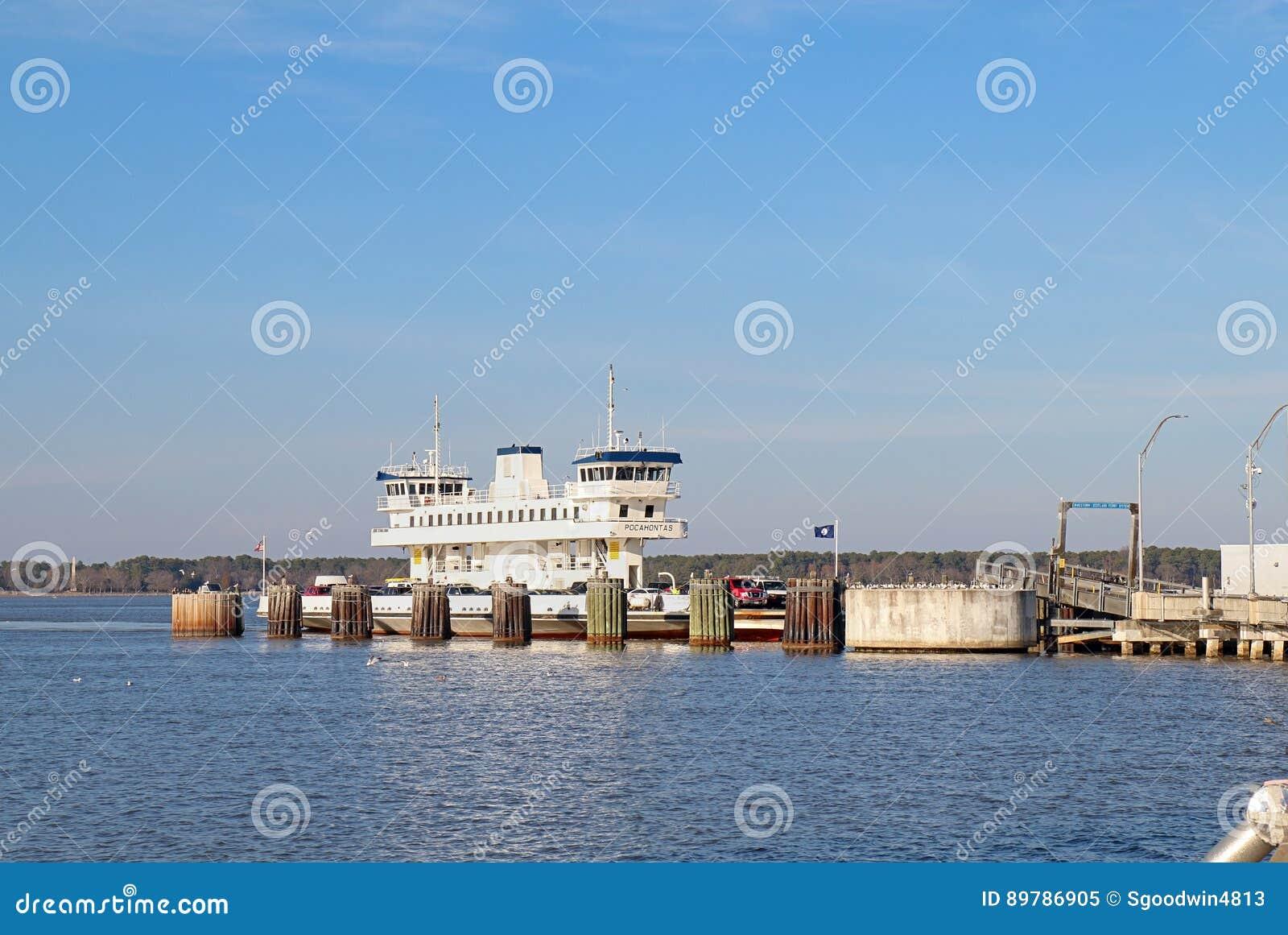 Jamestown-Schotland Veerboot Pocahontas in Surrey, Virginia