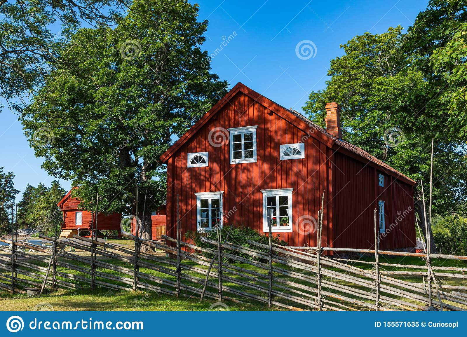 Jan Karlsgarden open air museum at Aland islands, Finland. The museum was founded in 1930s. Ethnographic park