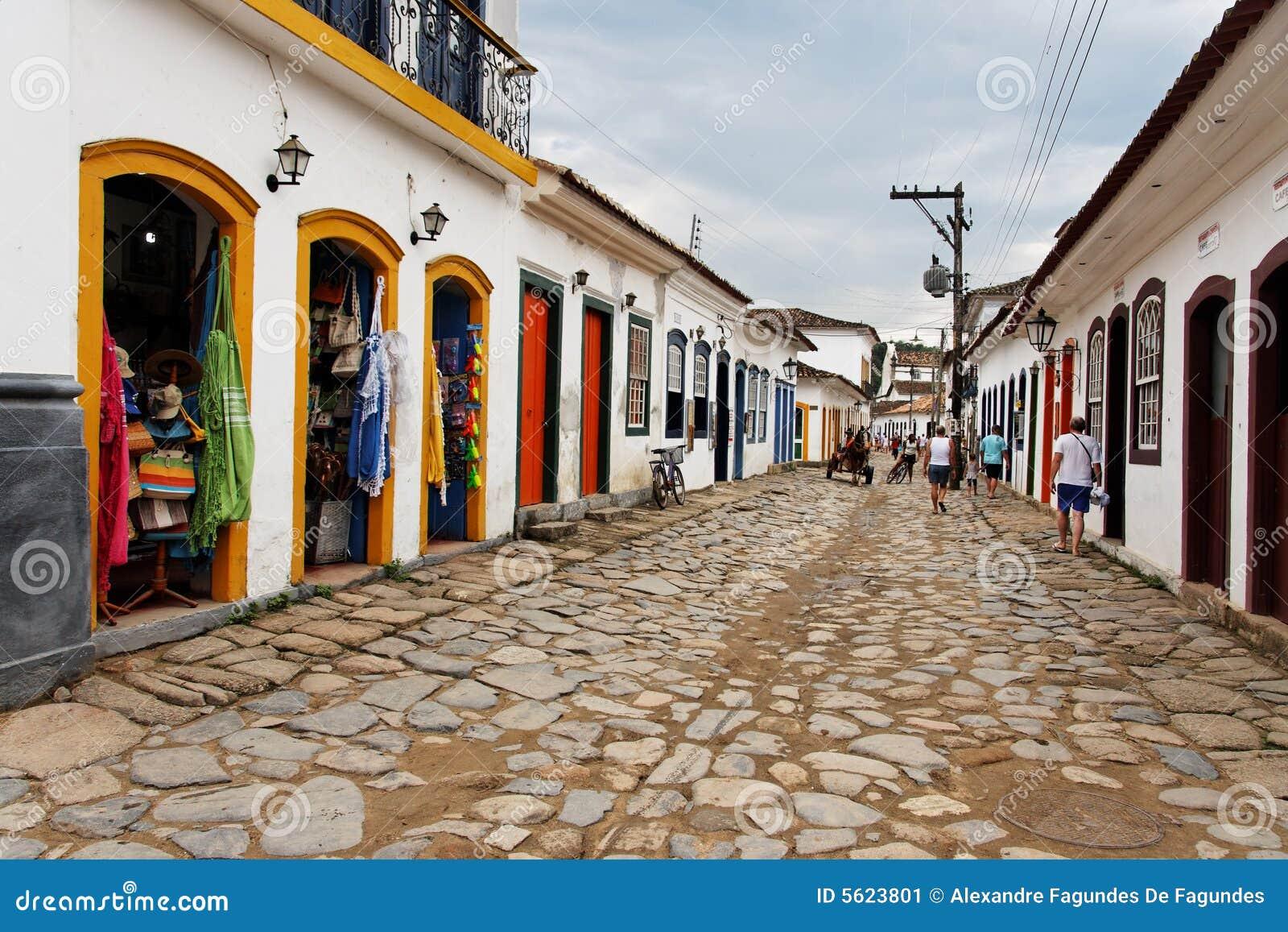Janeiro paraty rio de здания историческое