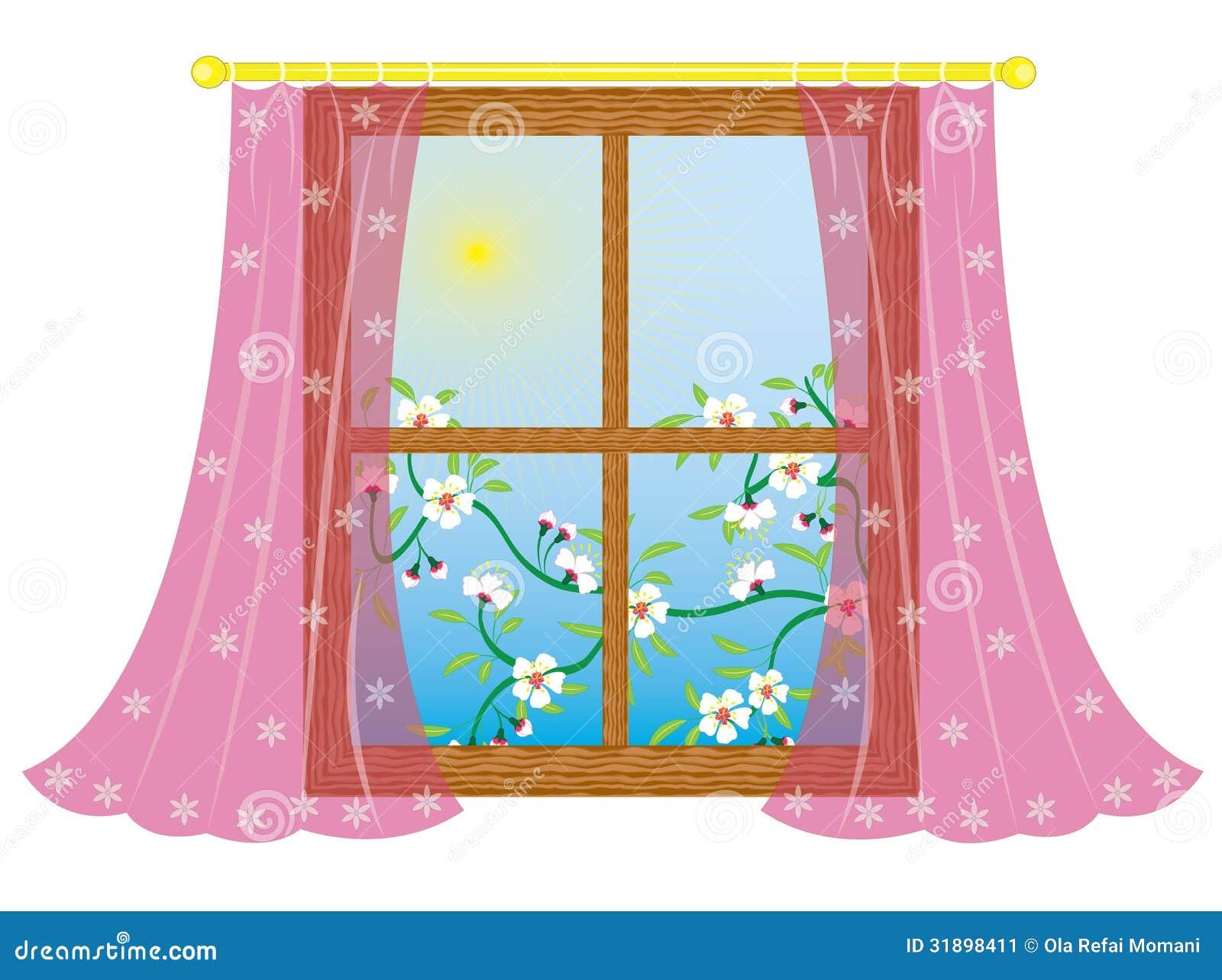 Janela Com Cortina Imagem de Stock Imagem: 31898411 #BCB60F 1300x1059 Banheiro Com Cortina Na Janela