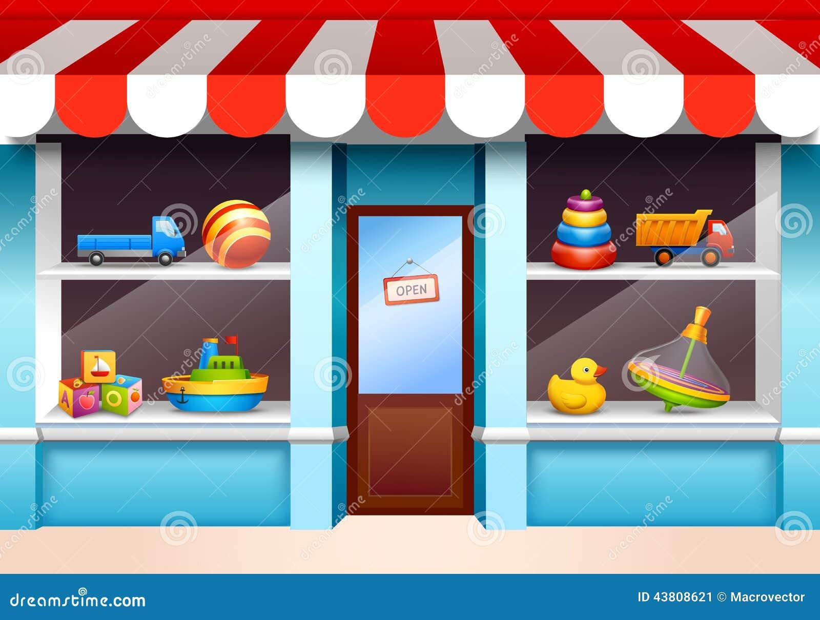 Janela da loja dos brinquedos