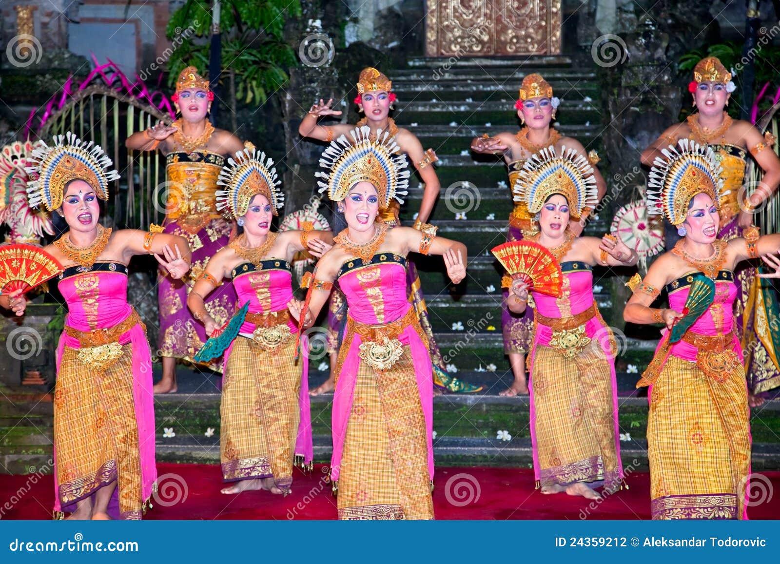 Janger Dance Ubud Bali Indonesia Editorial Photography
