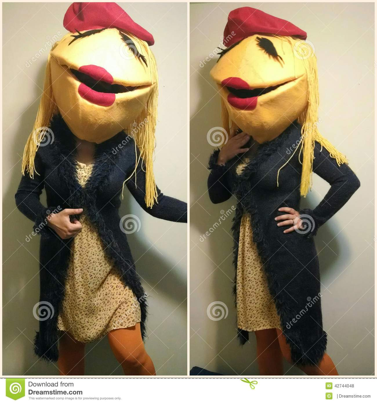 Janice Muppet costume editorial stock photo  Image of giant