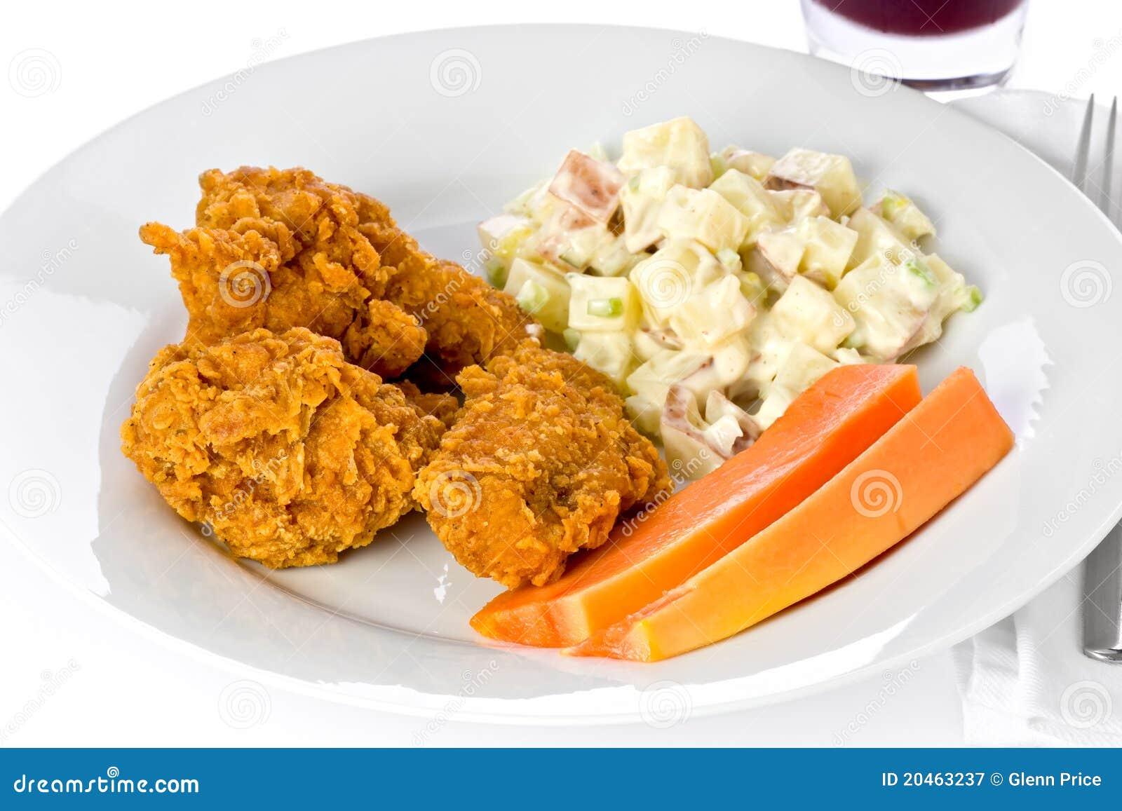 Jantar da galinha fritada