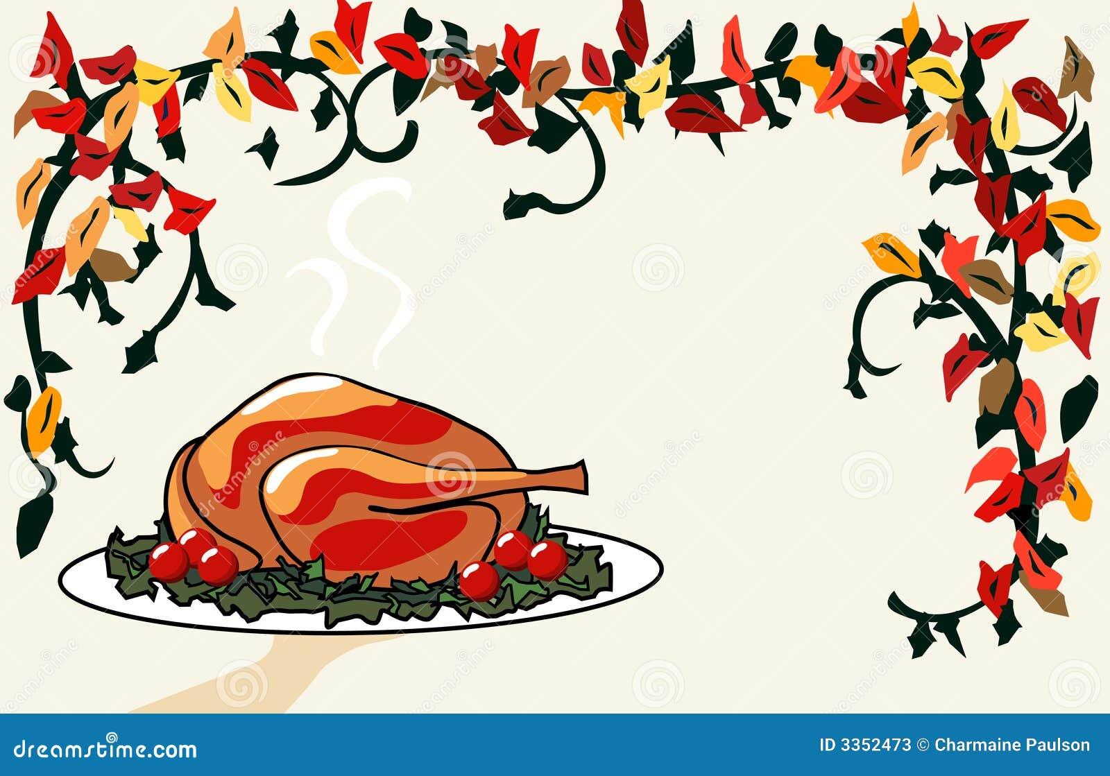 Jantar de Turquia do serviço