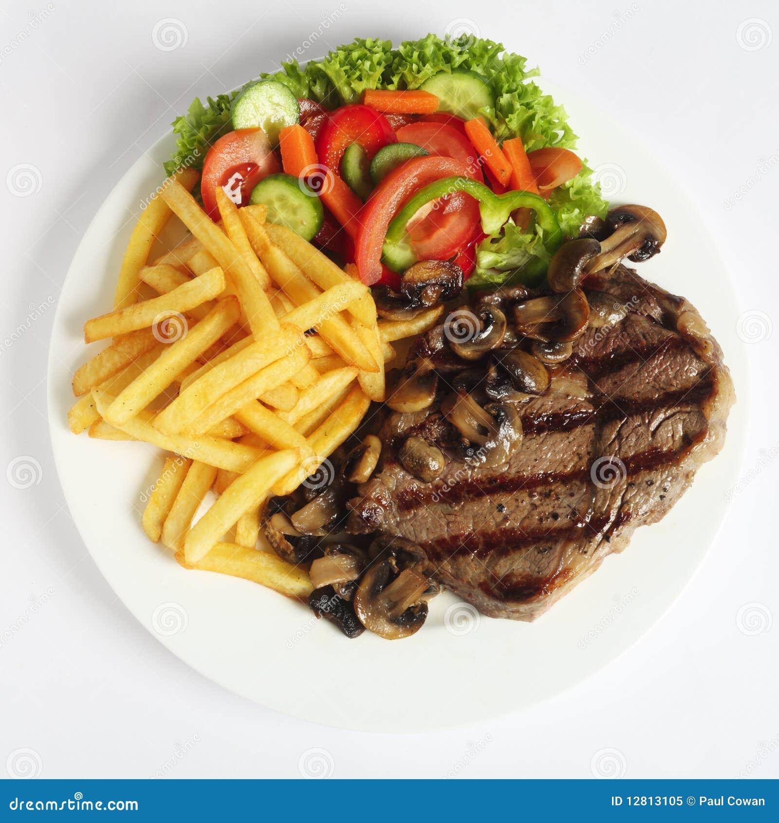 Jantar do bife de Ribeye de acima