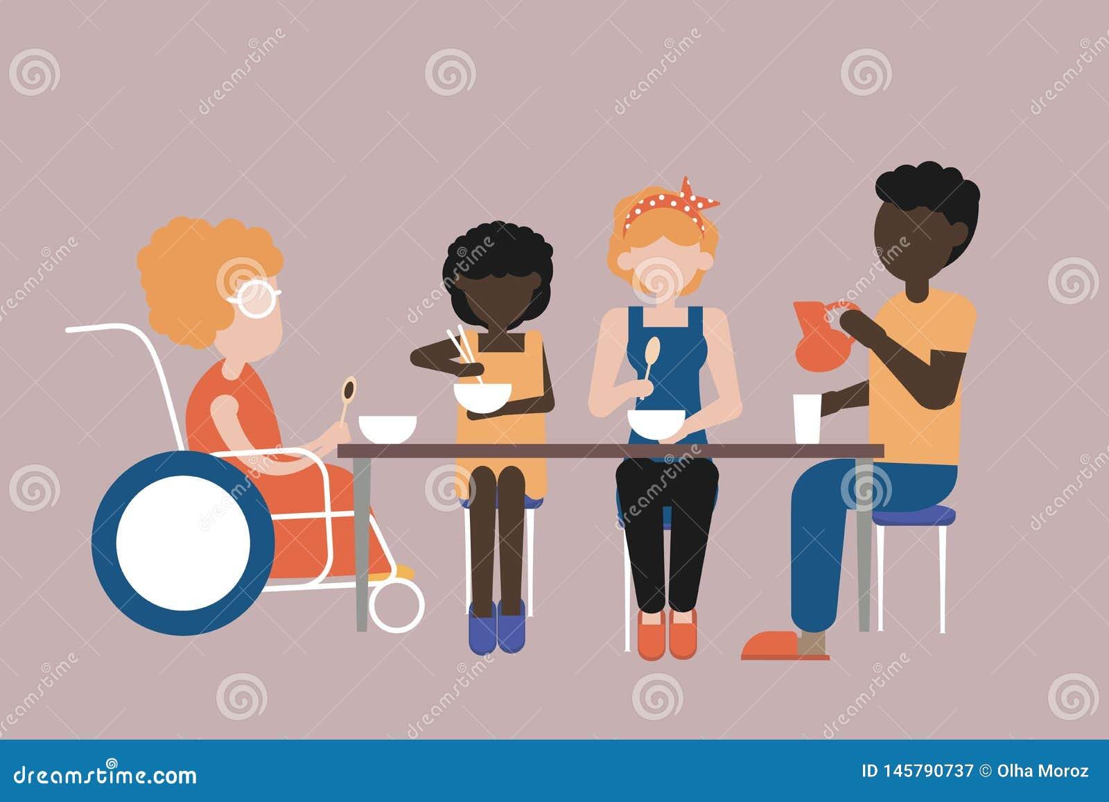 Jantar no c?rculo de fam?lia Valores familiares