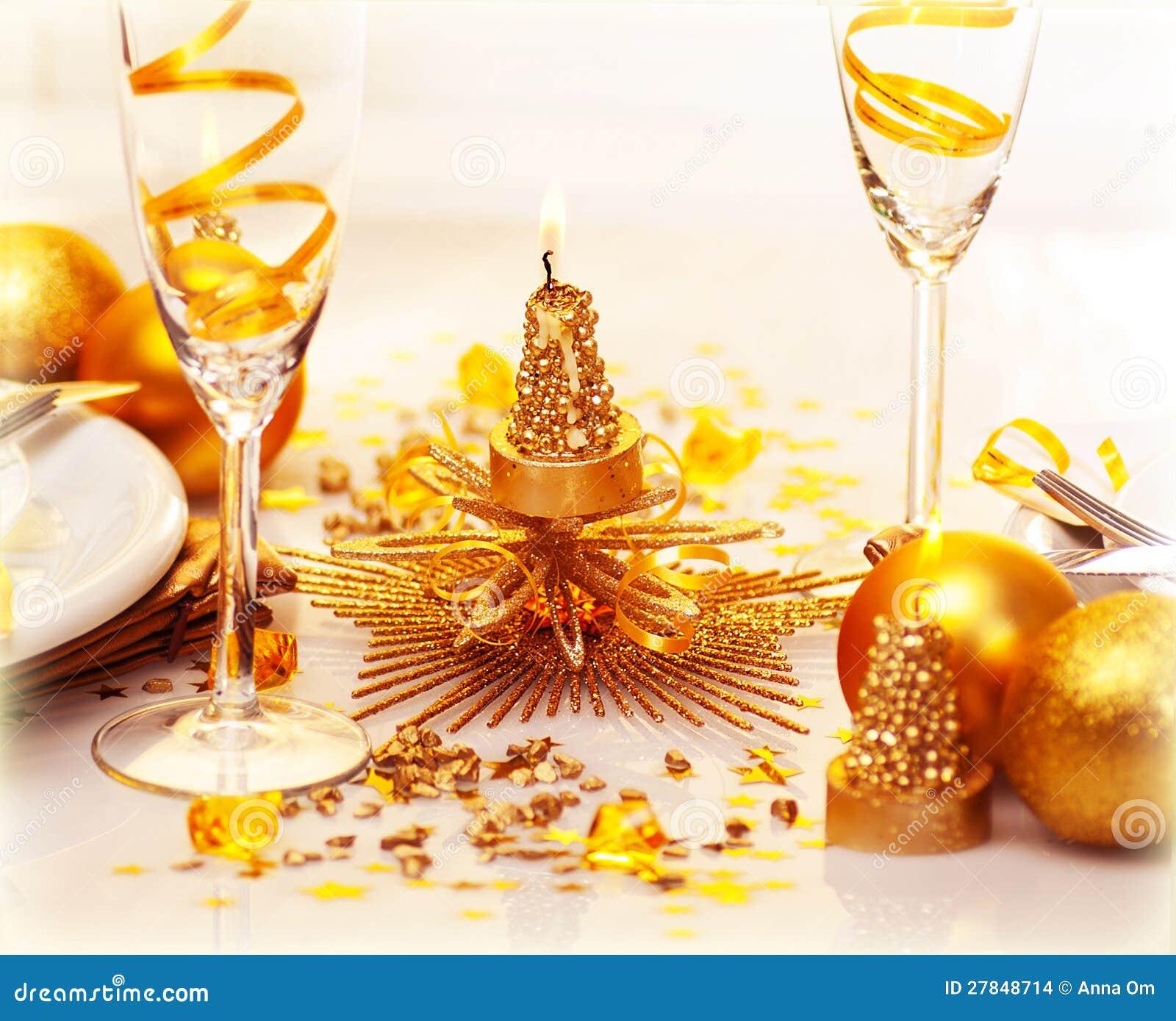 Jantar romântico do Natal