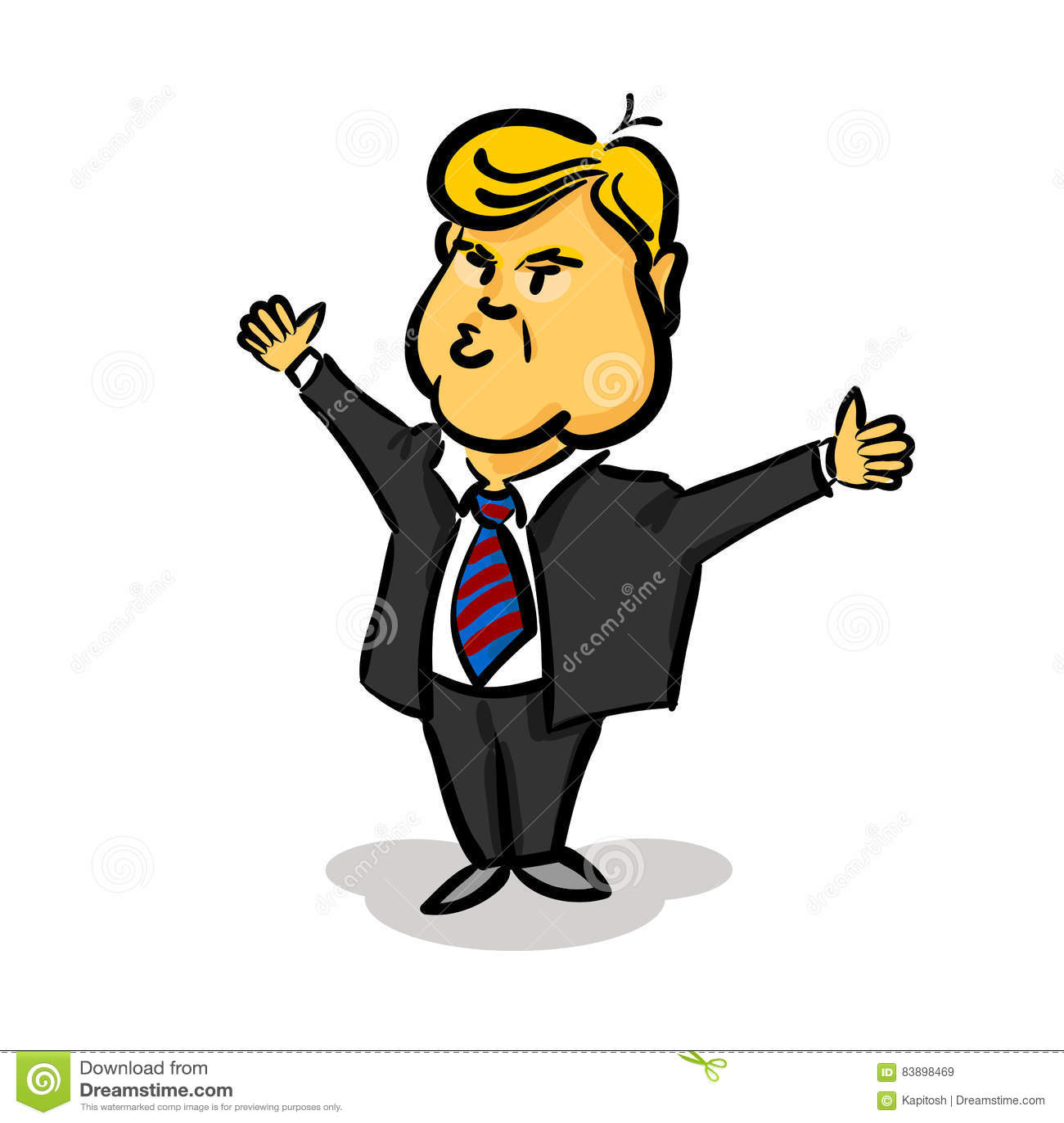 10. Januar 2017 Donald Trump-Daumen Oben Redaktionelles Stockbild ...